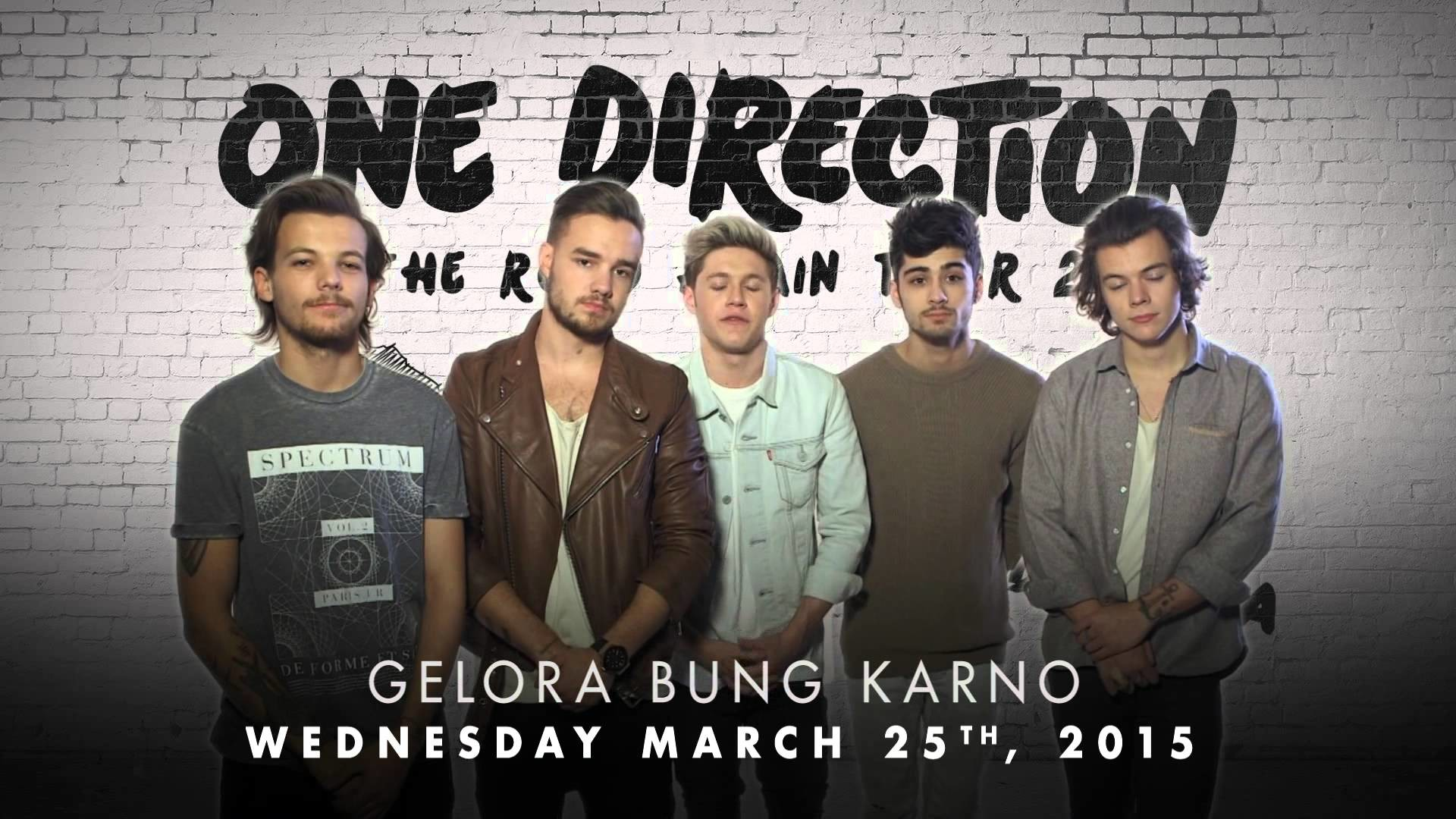 ONE DIRECTION 2015 Tour *INDONESIA* – #1DINDO Announcement – YouTube
