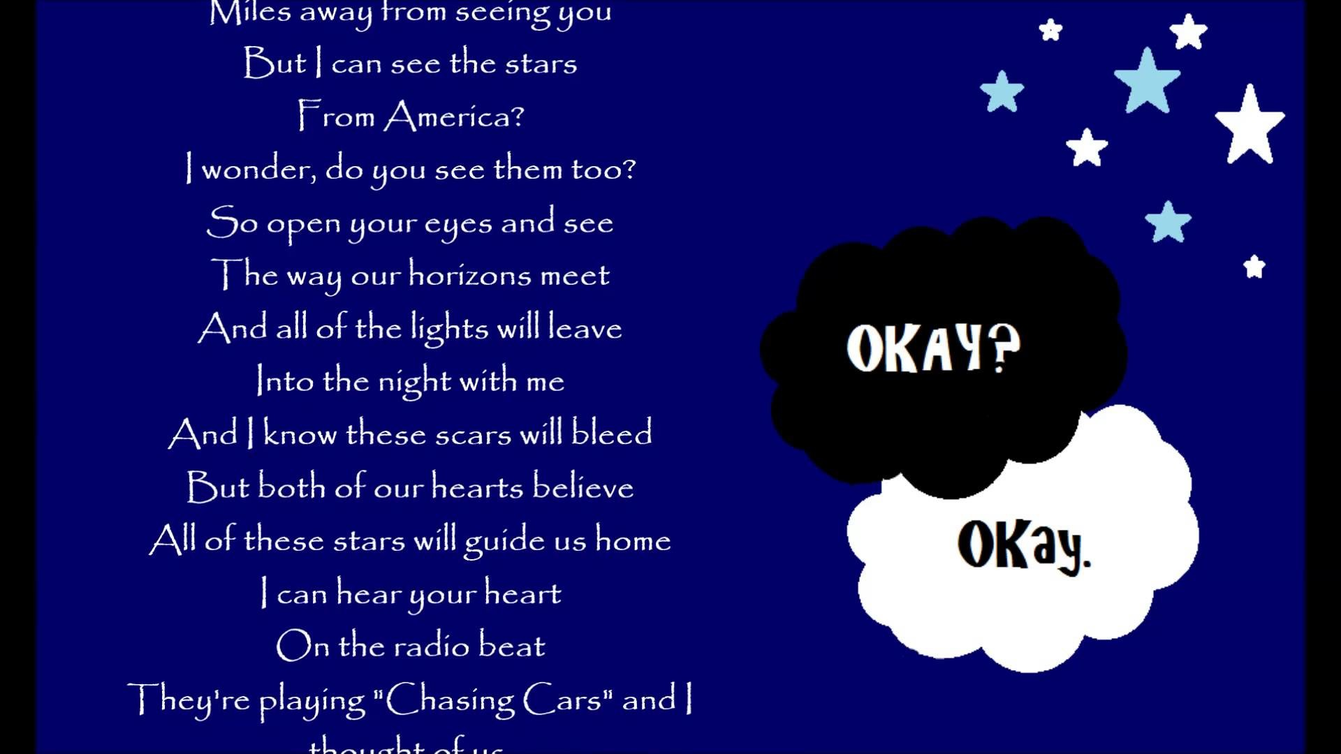 All Of These Stars ~Ed Sheeran Lyrics