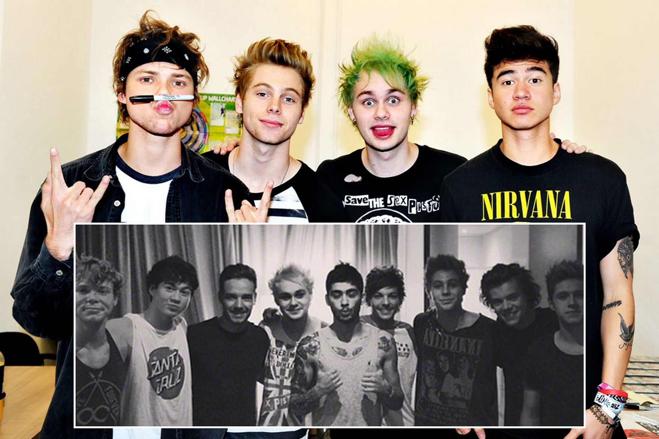… 5Sos And One Direction Collage Header – All The Gallery You Need!