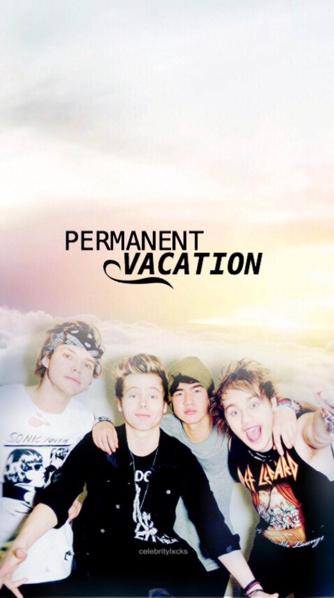 FREE •5 Seconds Of Summer 'Permanent Vacation' Lockscreen• please LIKE if  you
