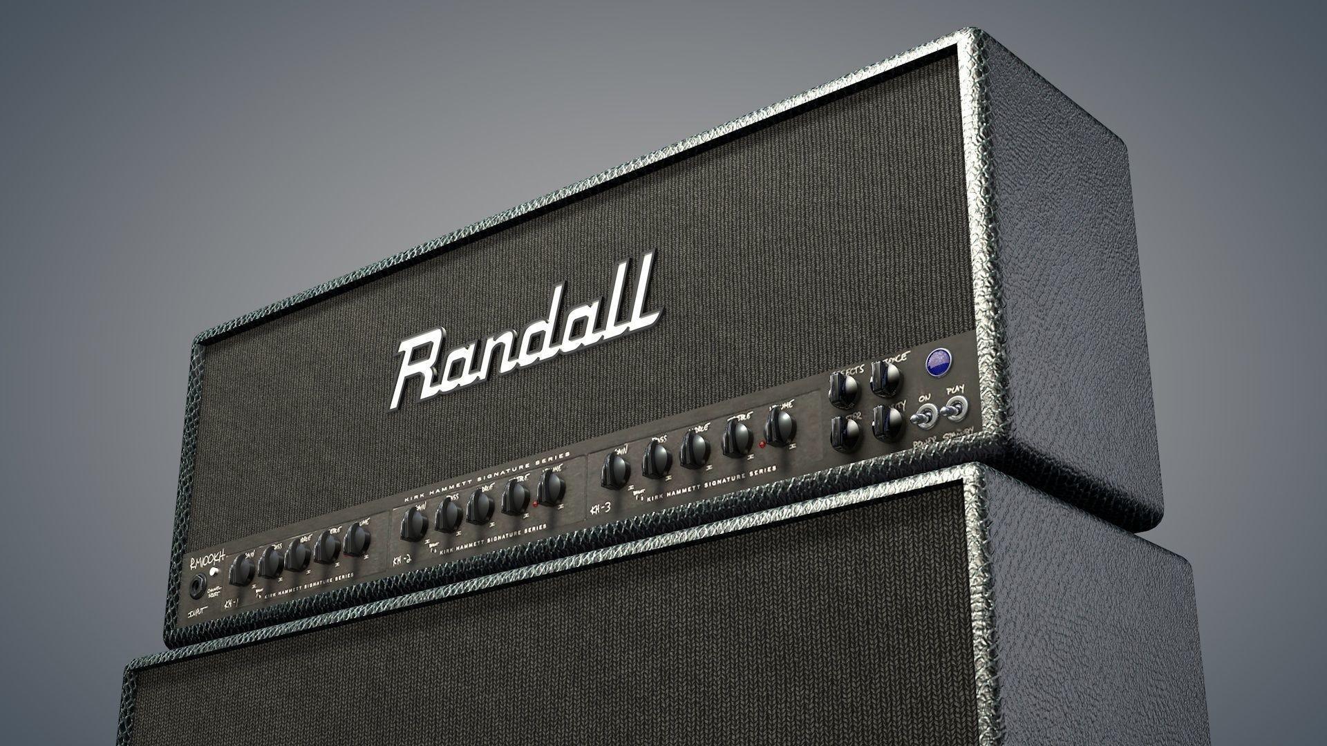 … kirk hammett randall guitar amp 3d model 3ds fbx c4d dxf stl 4 …