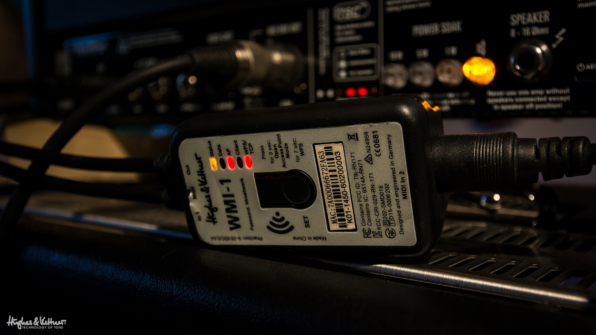The Hughes & Kettner WMI-1, the wireless MIDI interface that lets you –