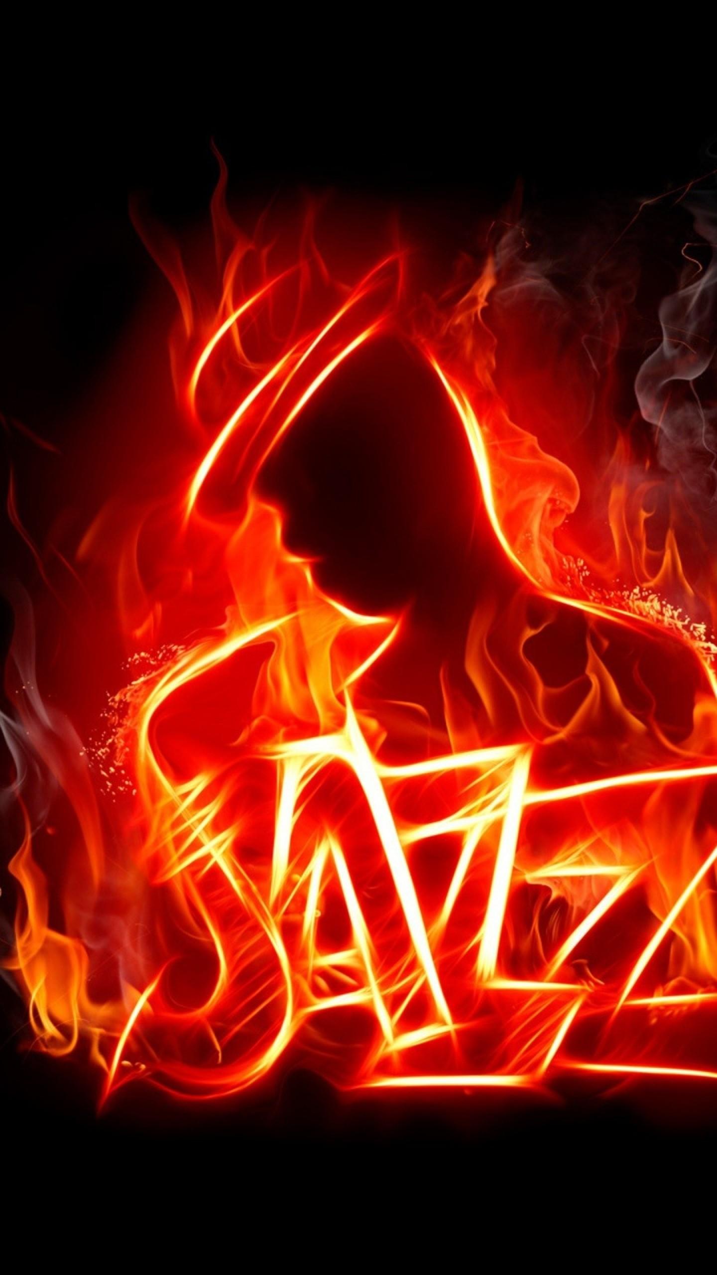 Wallpaper jazz, music, fire, silhouette, jazzman