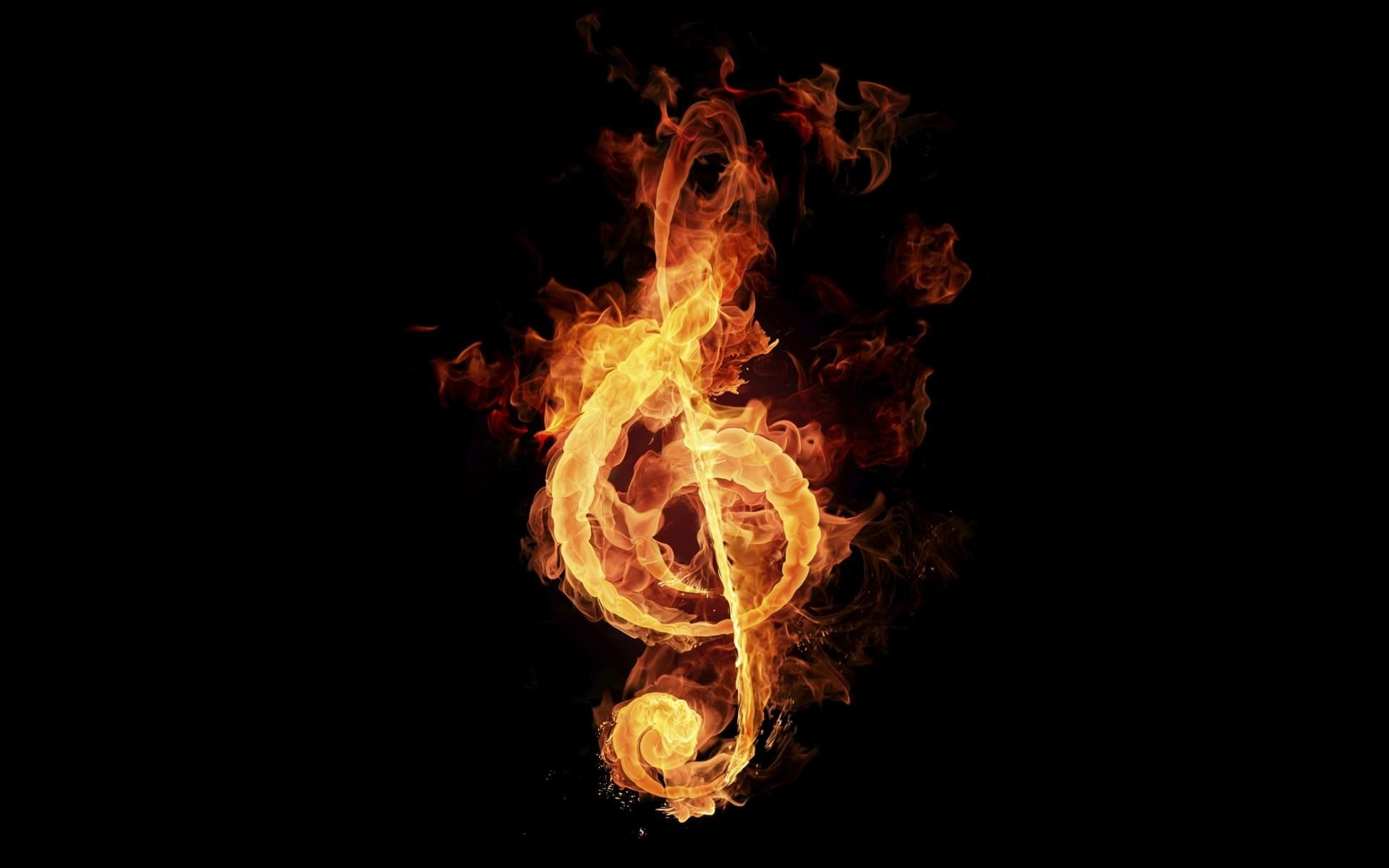 Wallpapers Backgrounds – Music Fire Artwork Black Background