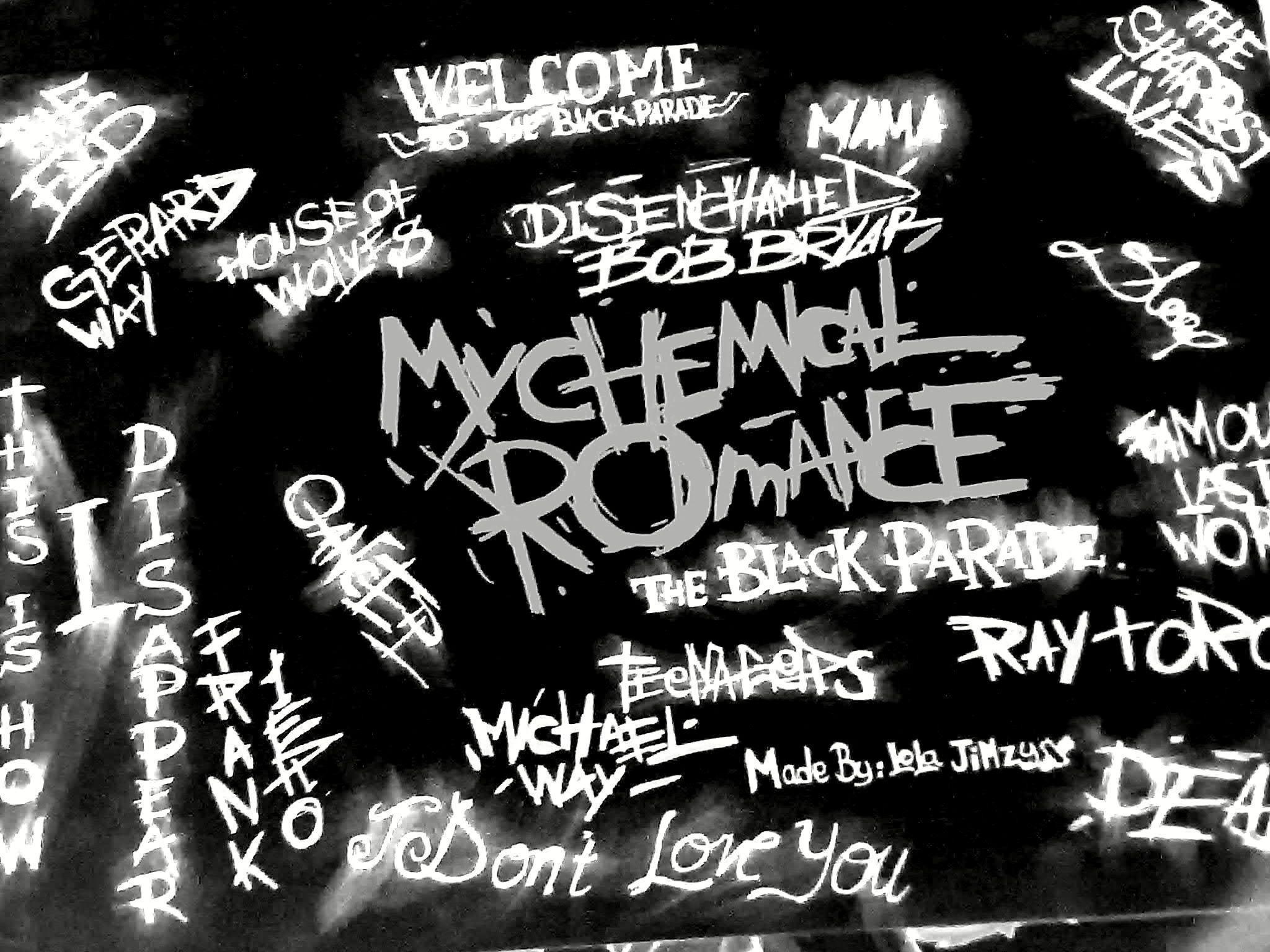 My Chemical Romance Blackboard Image