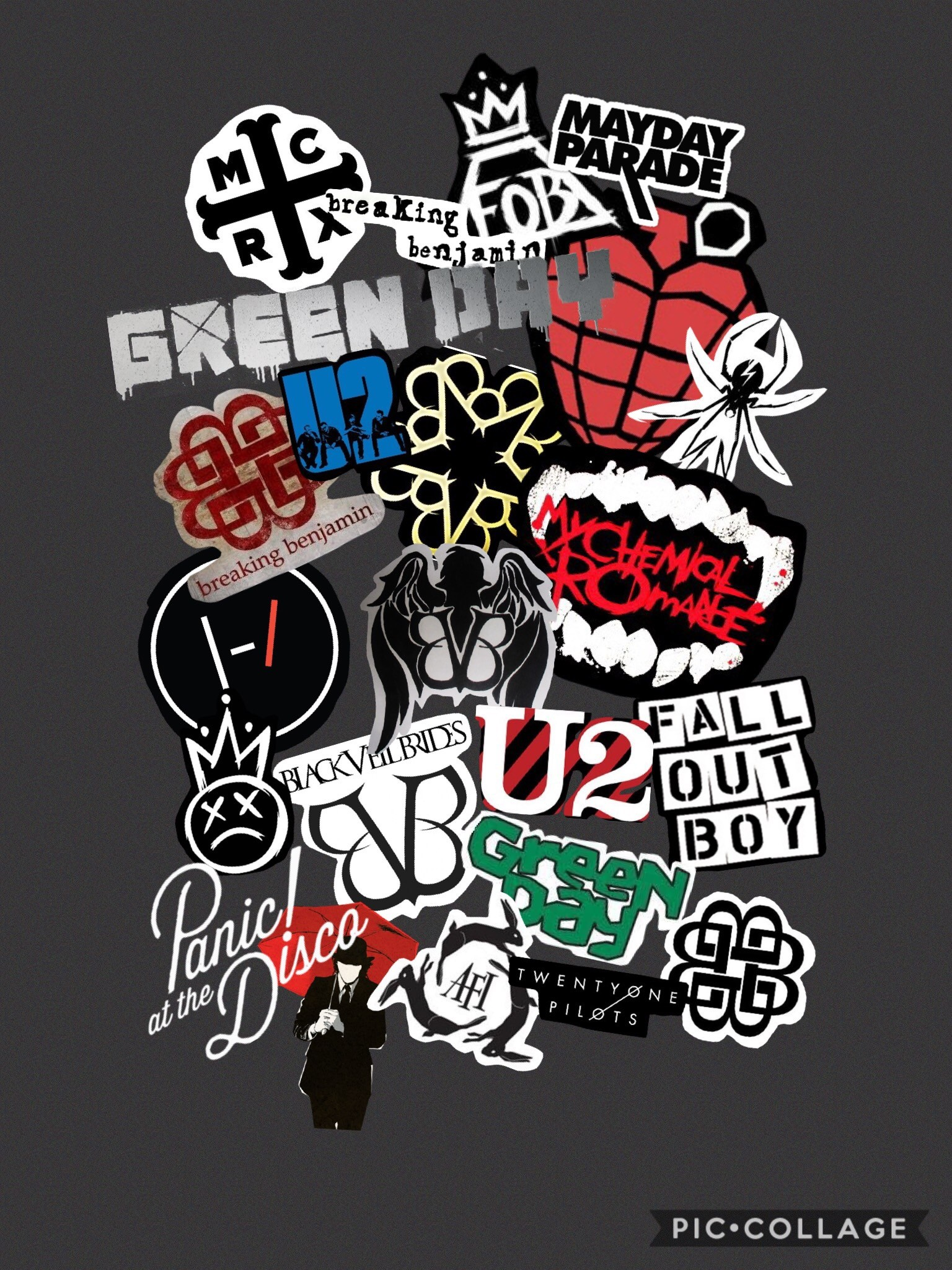 my lockscreen — all the bands I like, even the ones I only occasionally. My  Chemical Romance WallpaperEmo …