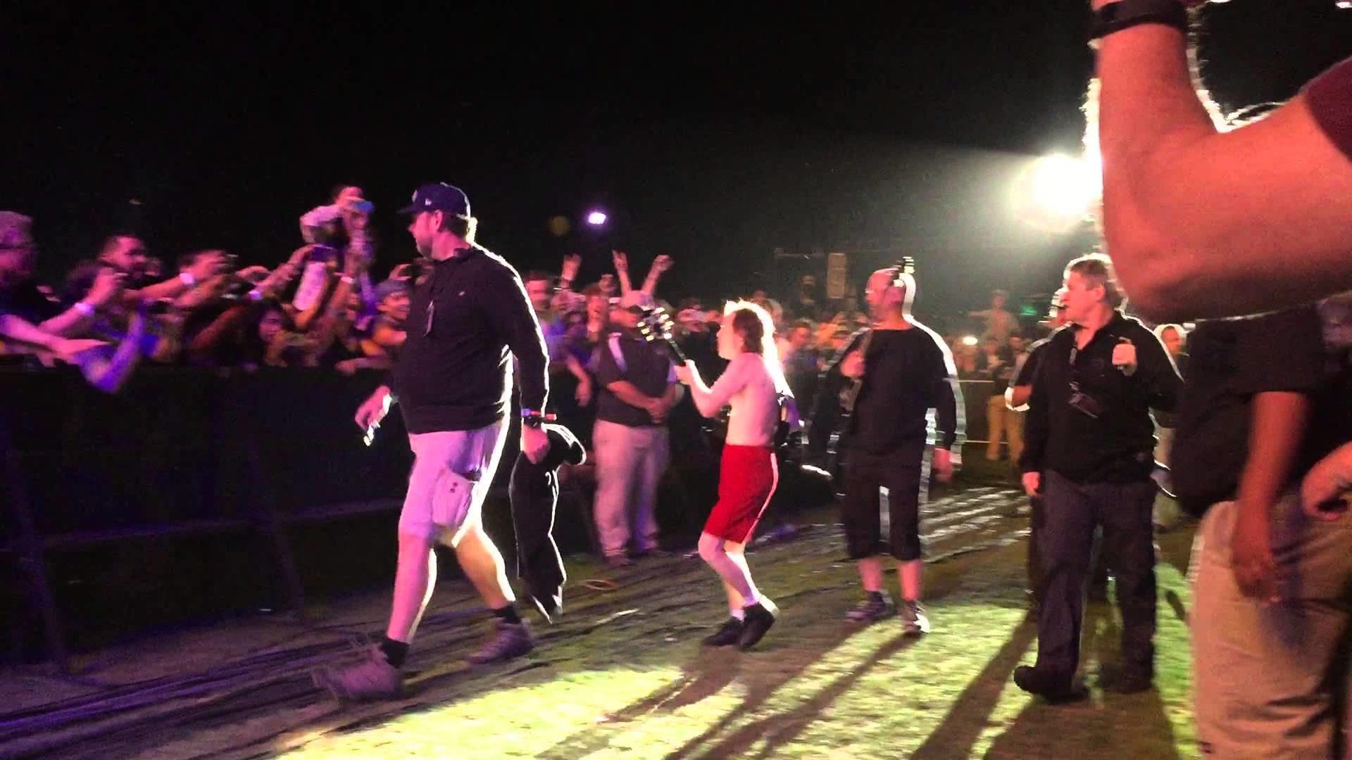 Angus Young at Coachella