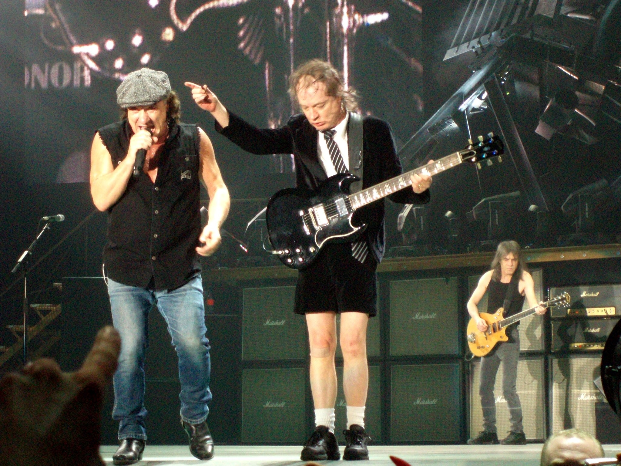 Brian Johnson and Angus Young by anczaa …