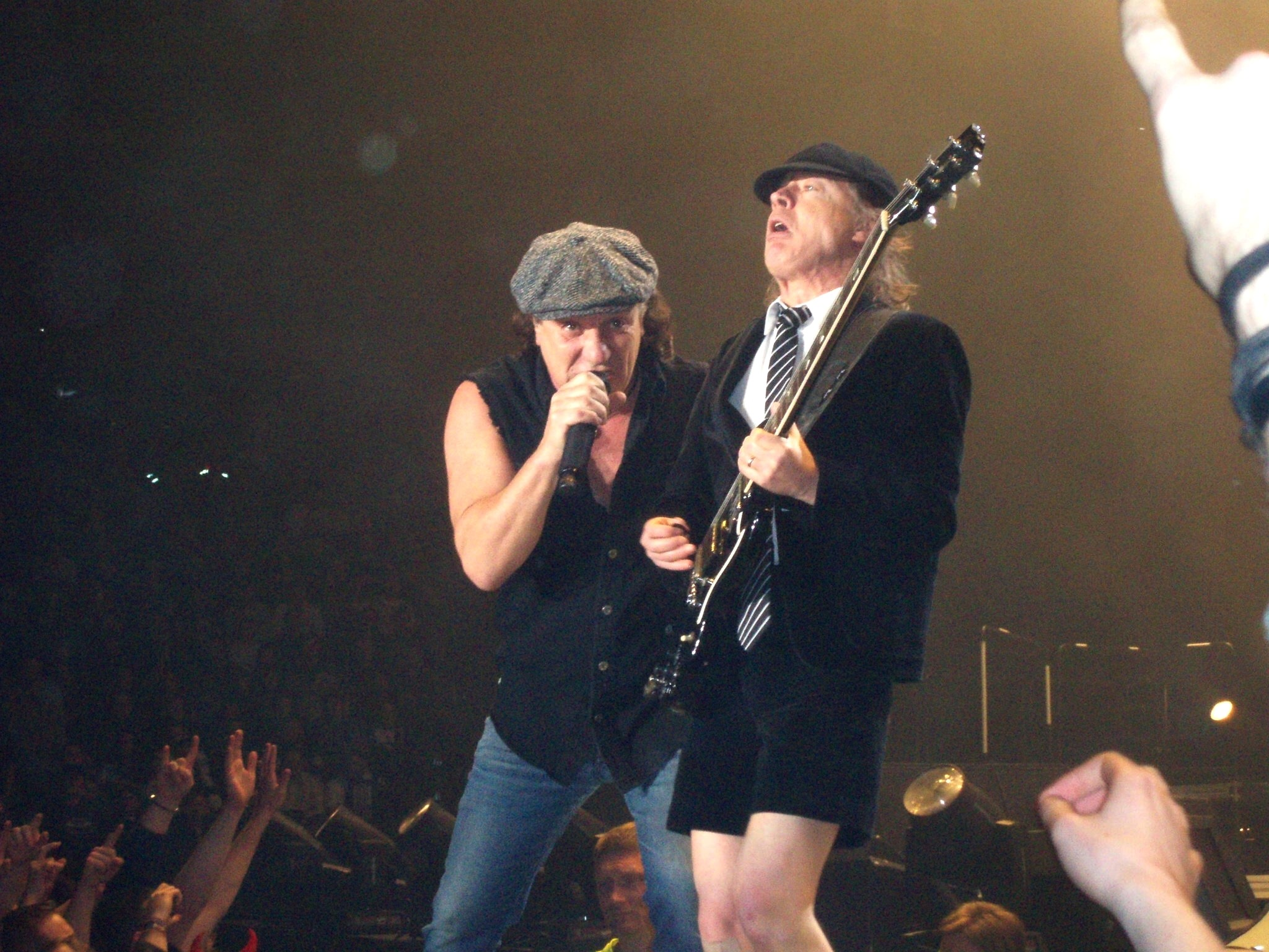 … Angus Young and Brian Johnson by anczaa