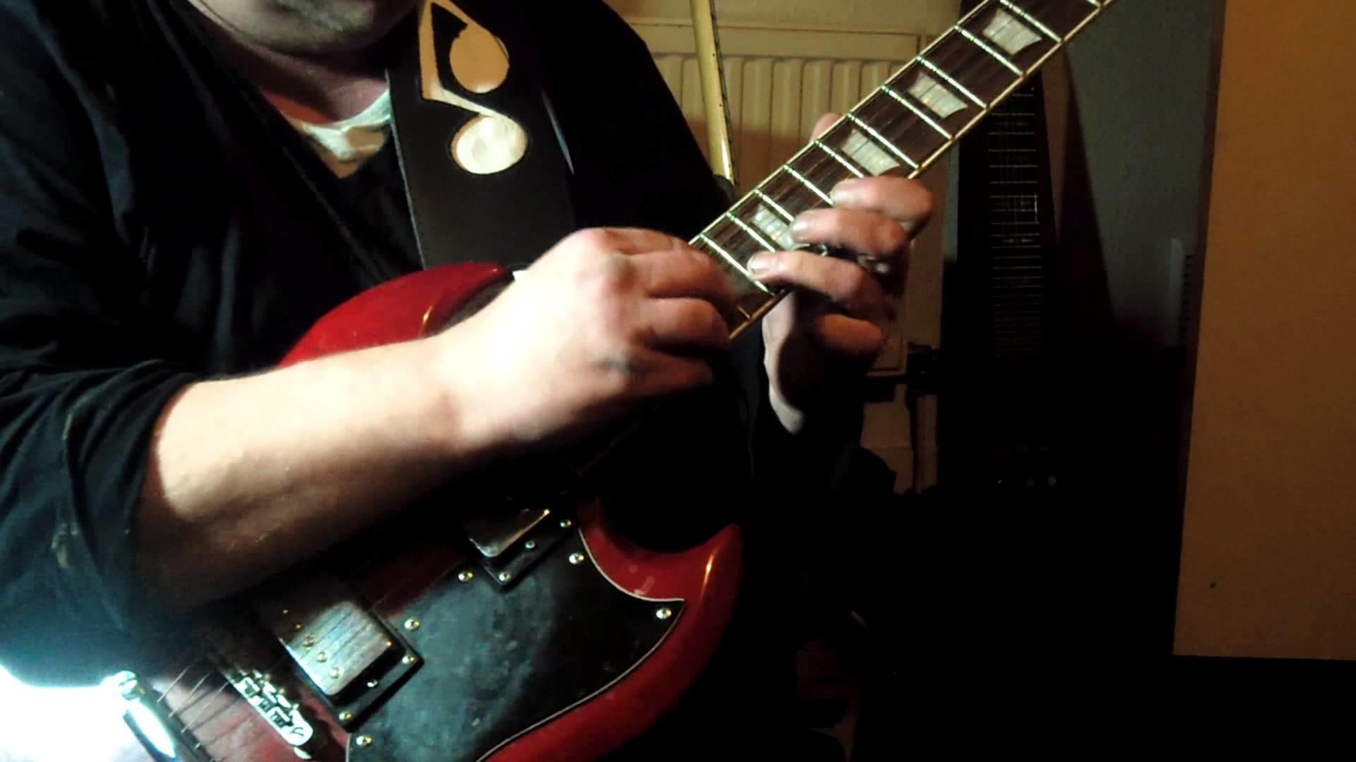 angus young style guitar solo improv on tokai sg