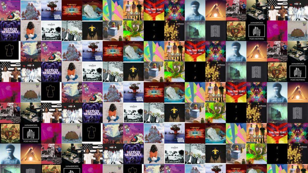 Kanye West Graduation Sleigh Bells Treats Gorillaz Plastic Wallpaper