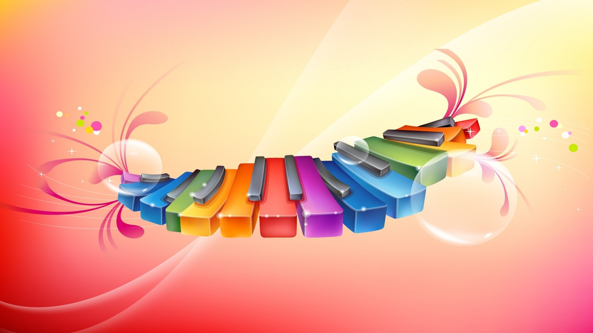 Colorful Music Background Wallpaper HD 2557 Full HD Wallpaper .