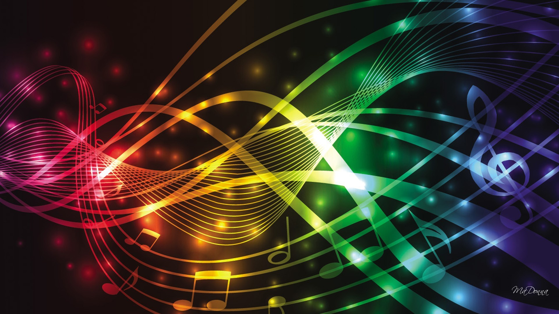 HD Colors Of Music Wallpaper – Full HD or background image…