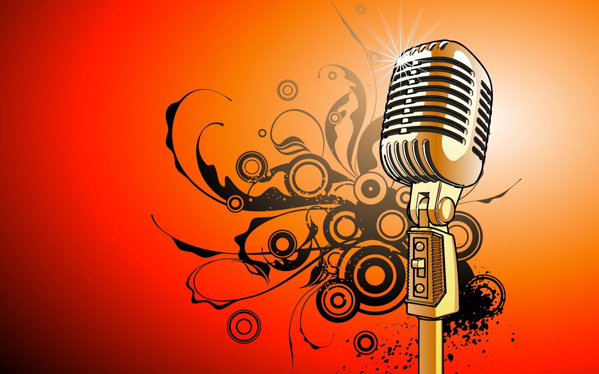 Microphone vector art Wallpapers | Pictures