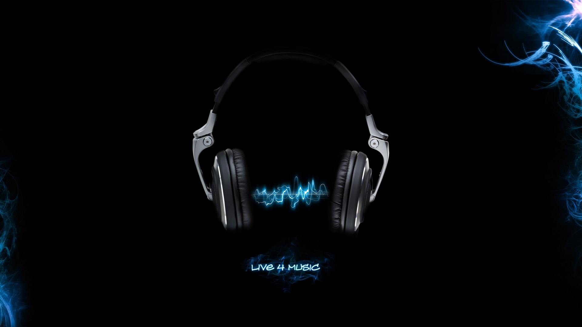 Music Backgrounds | Headphones Music Black Background Fresh New HD Wallpaper  Best Quality .