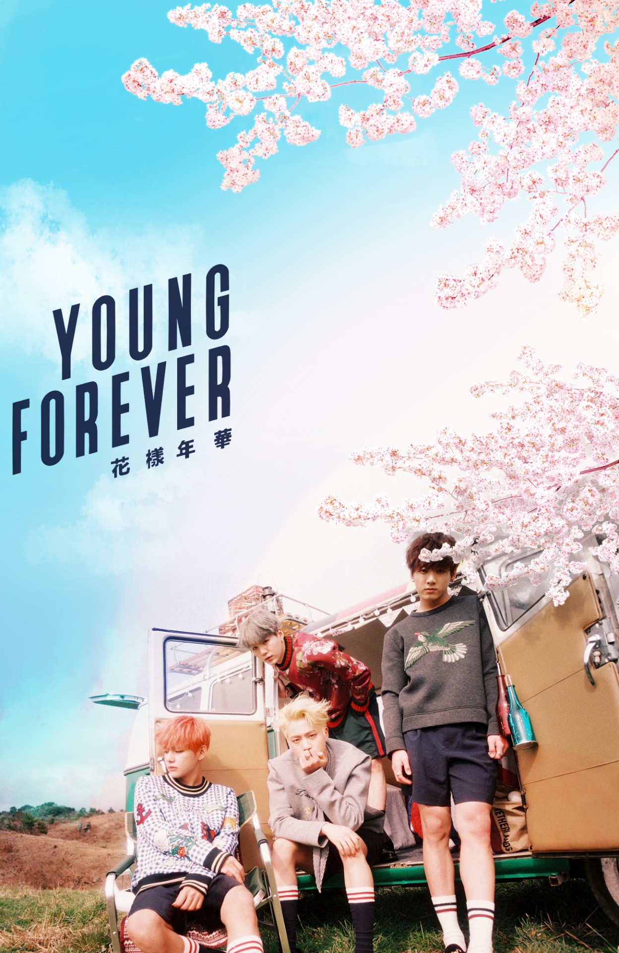 BTS / Young Forever / Wallpaper my top 4 in one pic i cant–