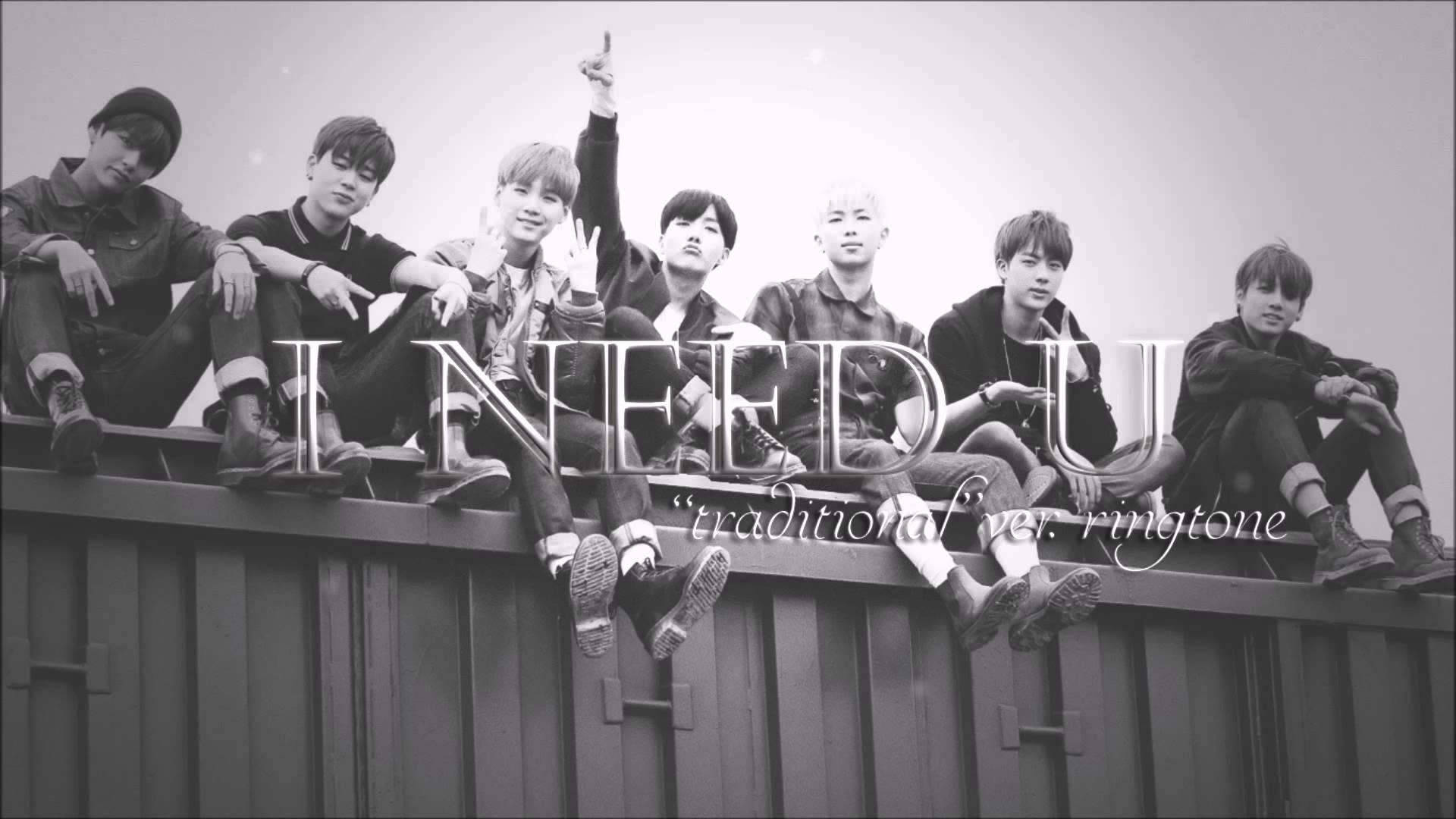 BTS (방탄소년단) – I need U // Traditional ringtone [chorus]