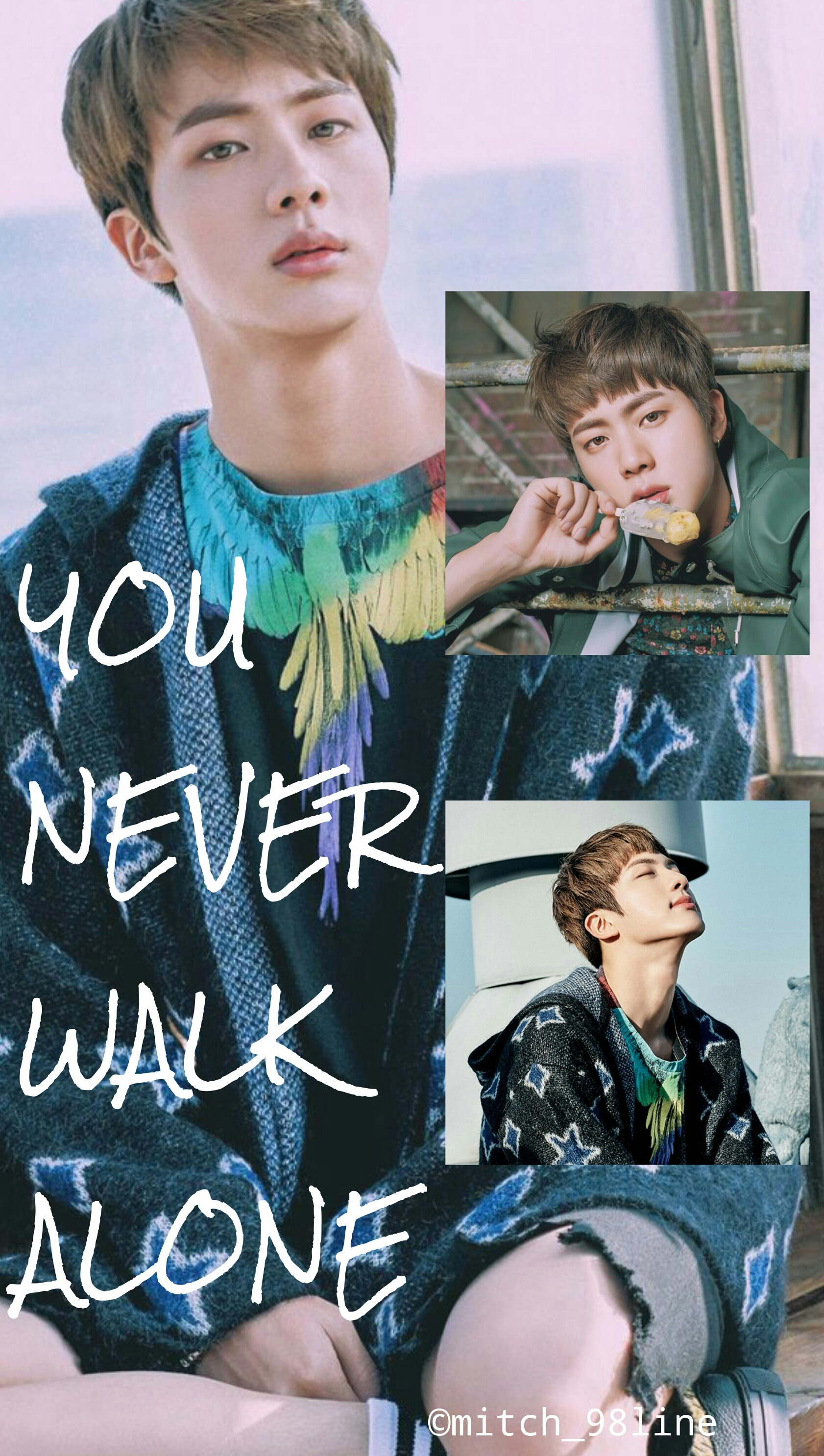 BTS Jin never walk alone