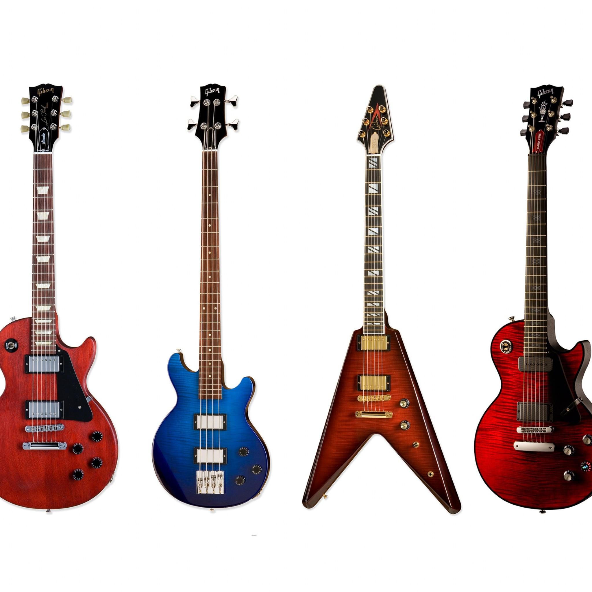 Wallpaper gibson, electric guitar, bass guitar