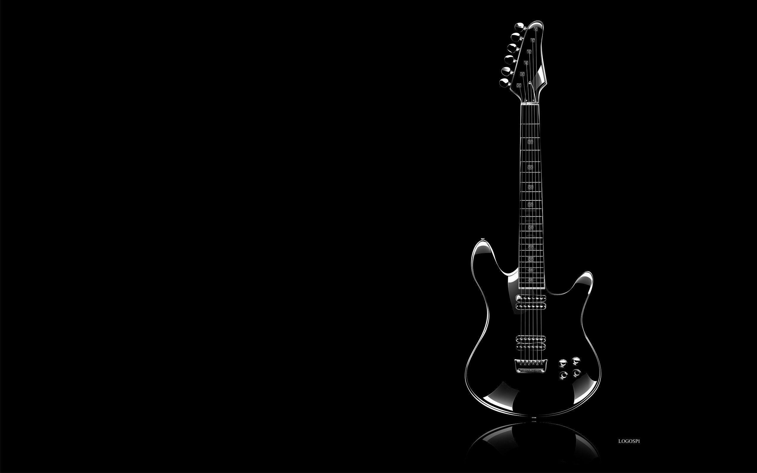 Guitar P O White Background Wallpaper