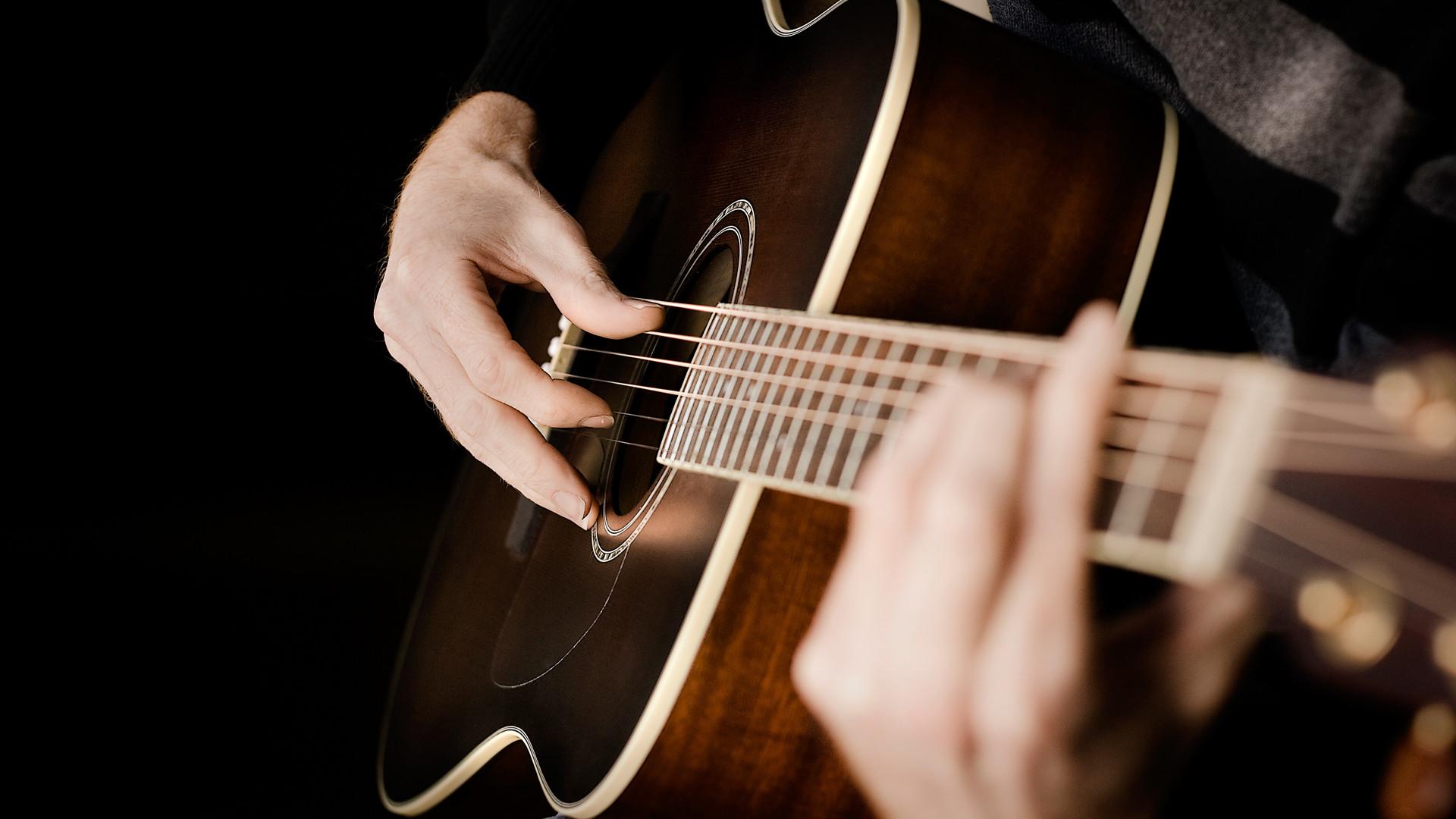 Playing Guitar Desktop Wallpaper 58786