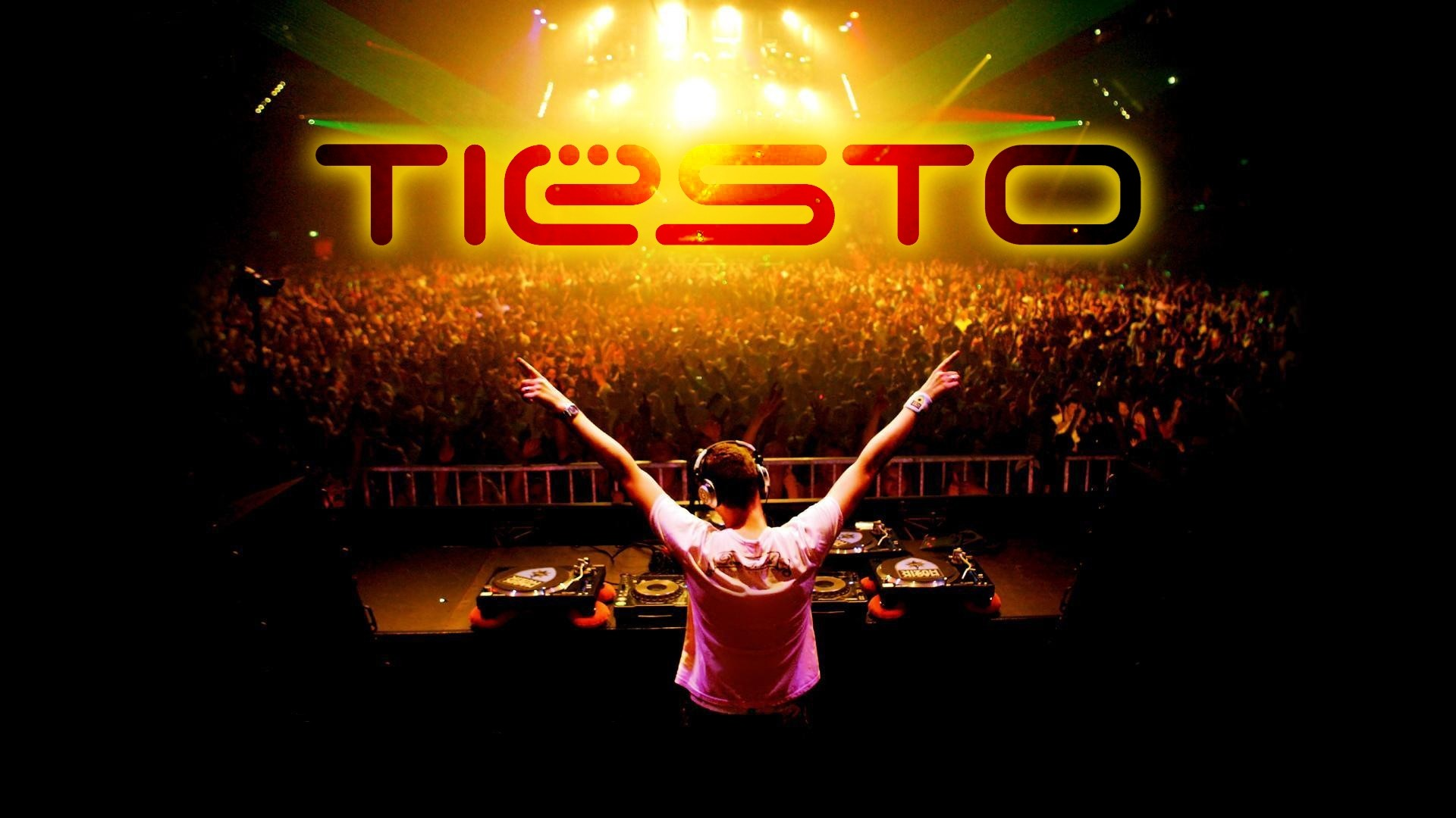 Preview wallpaper dj tiesto, letters, crowd, club, disco 1920×1080