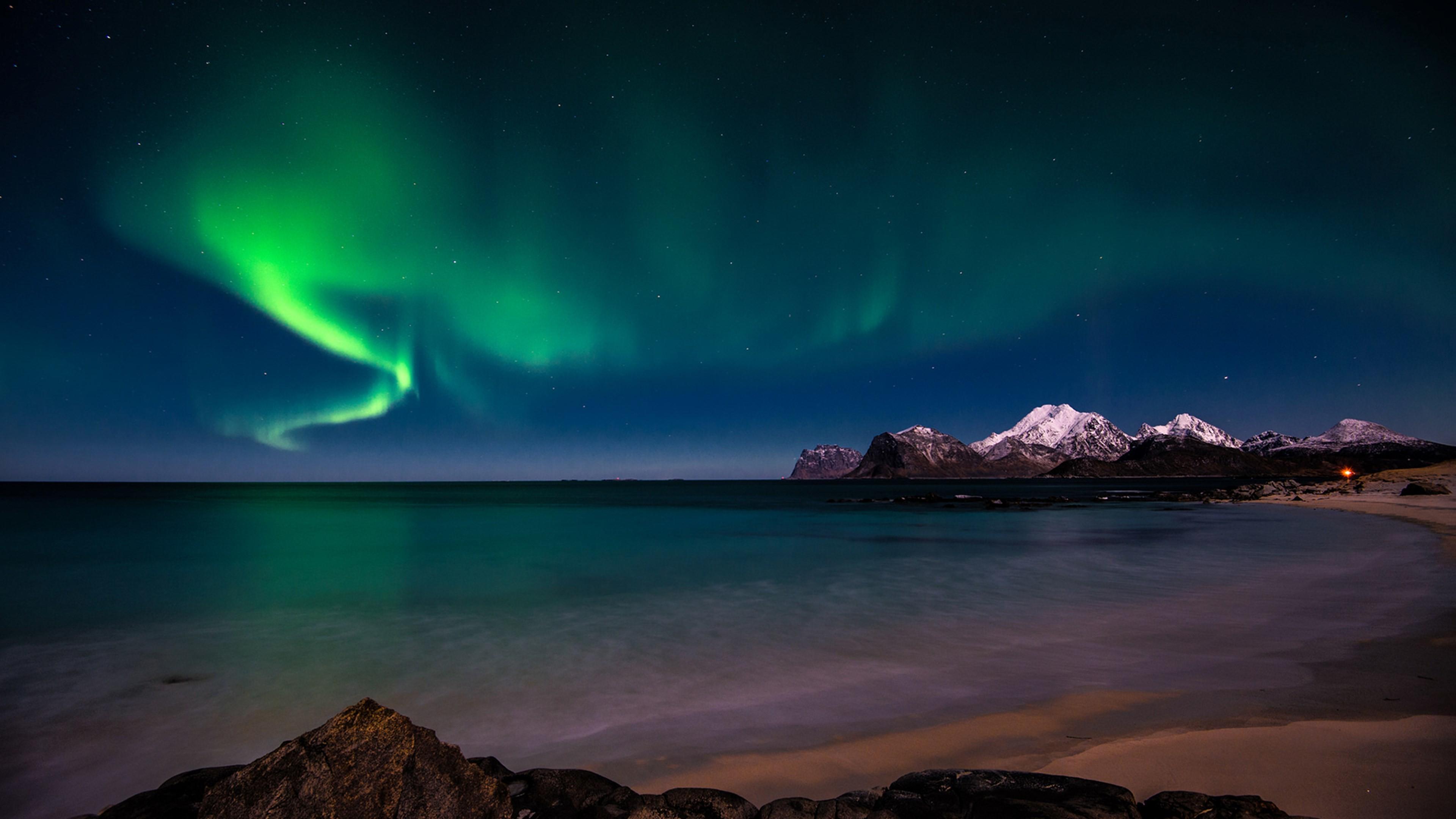 4k wallpaper aurora borealis (3840×2160)