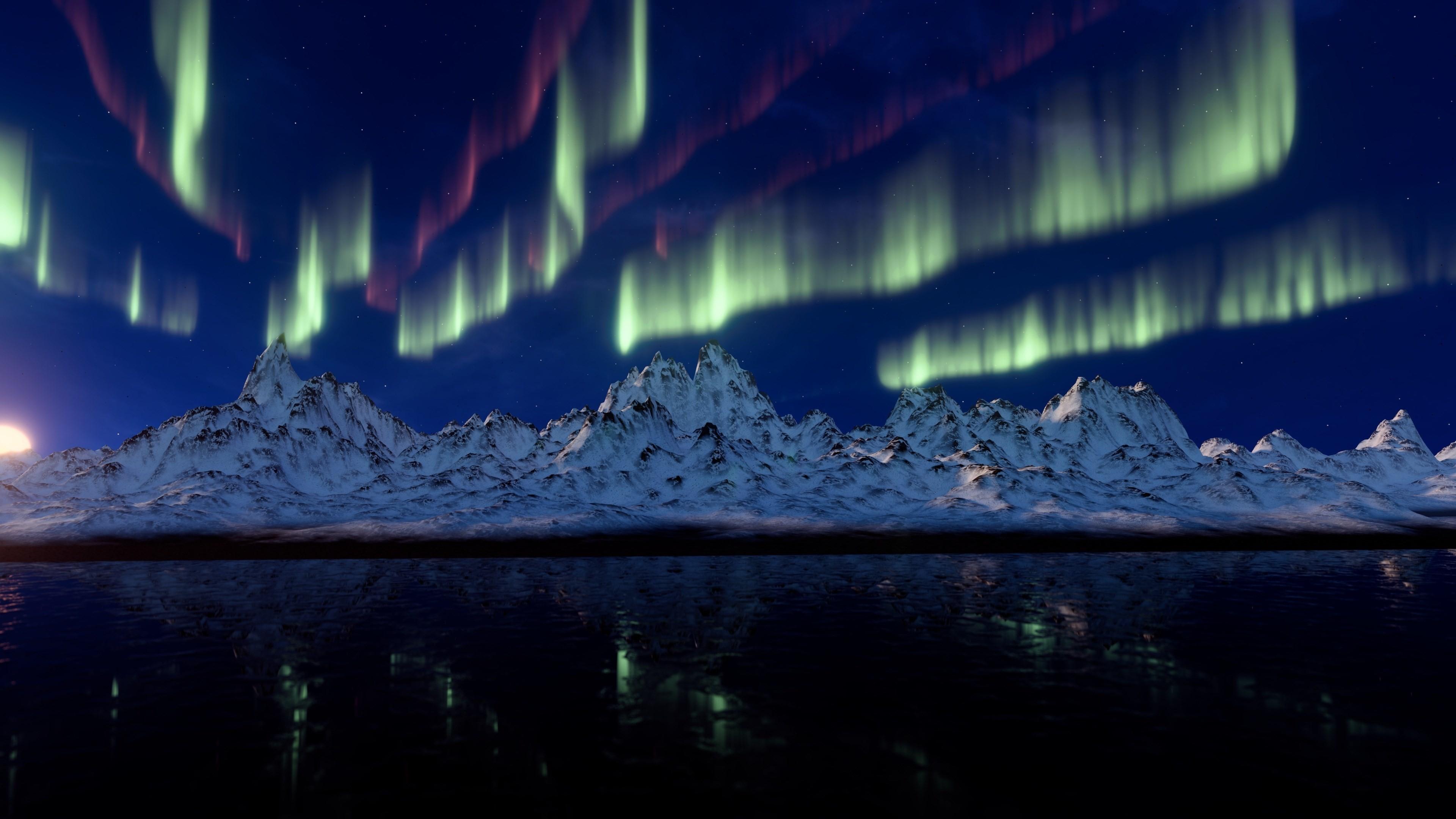 4k aurora borealis (3840×2160)