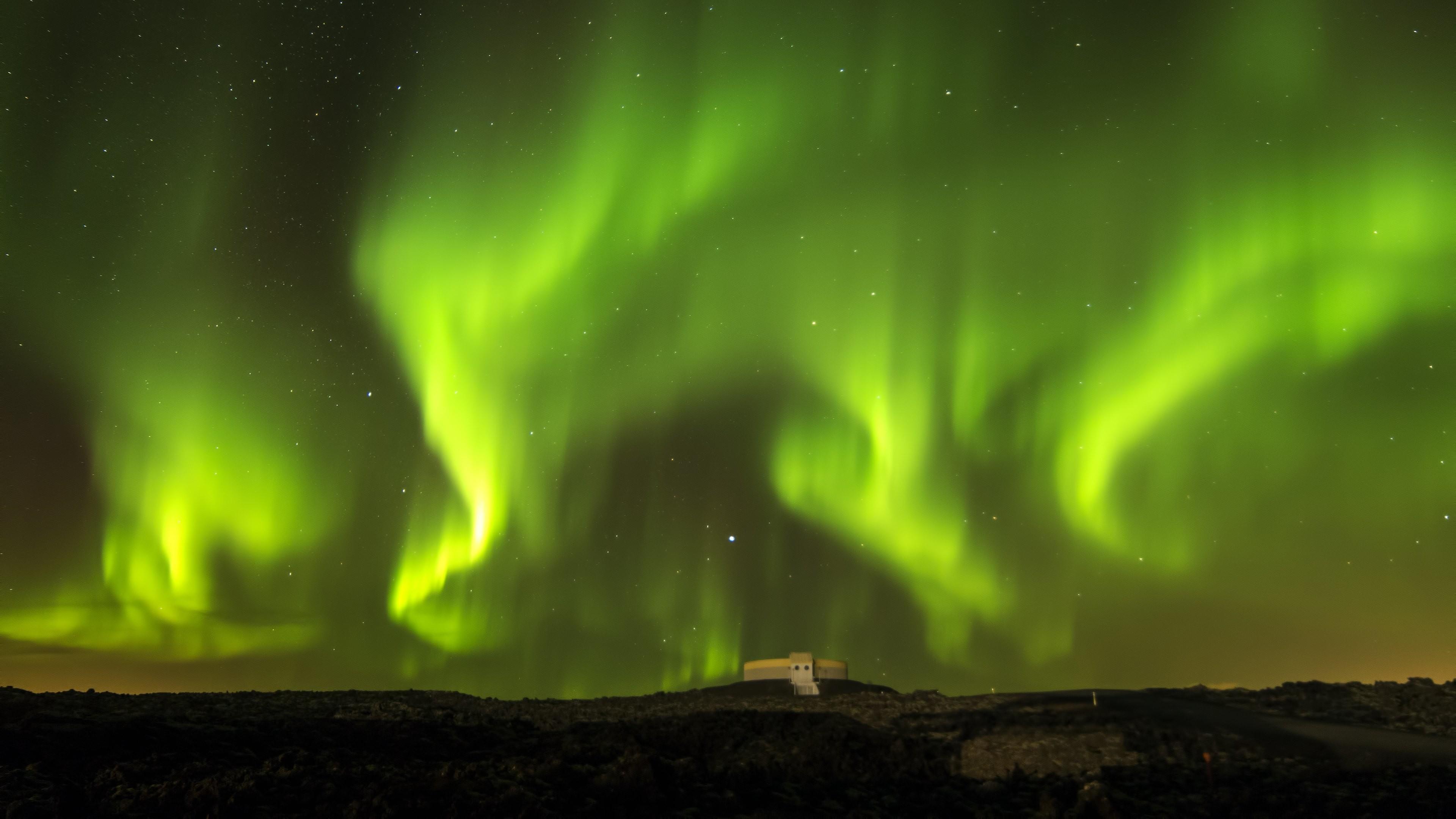 4K HD Wallpaper: Natural Sky. Aurora. Northern Lights