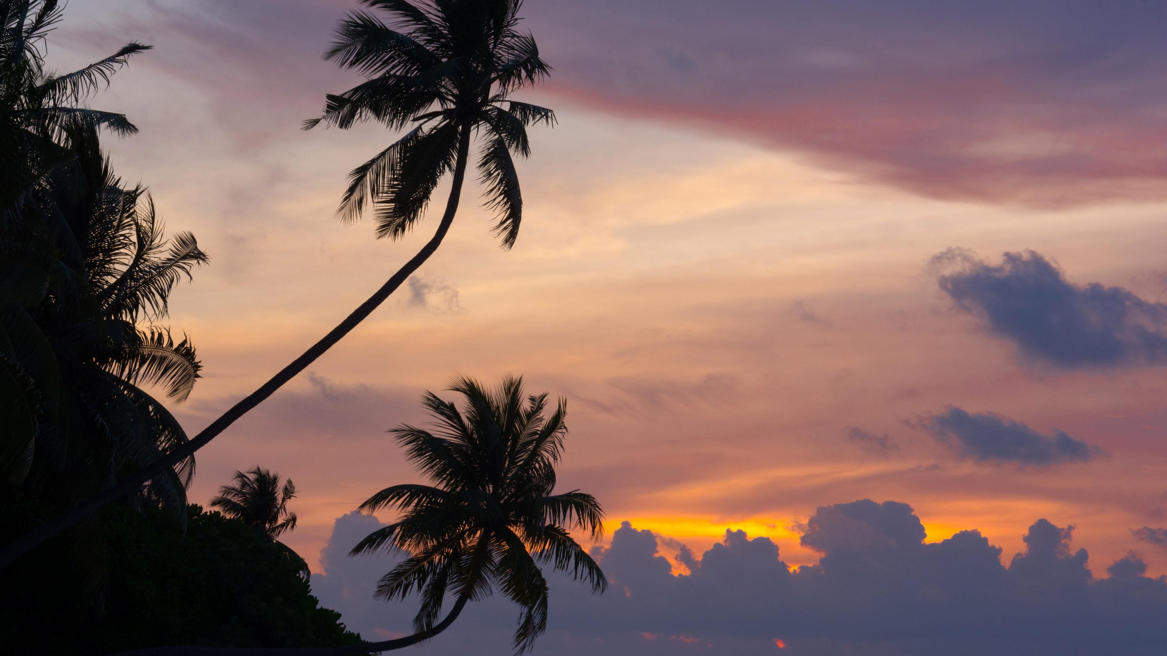 Maldivian Sunset 4K Wallpaper