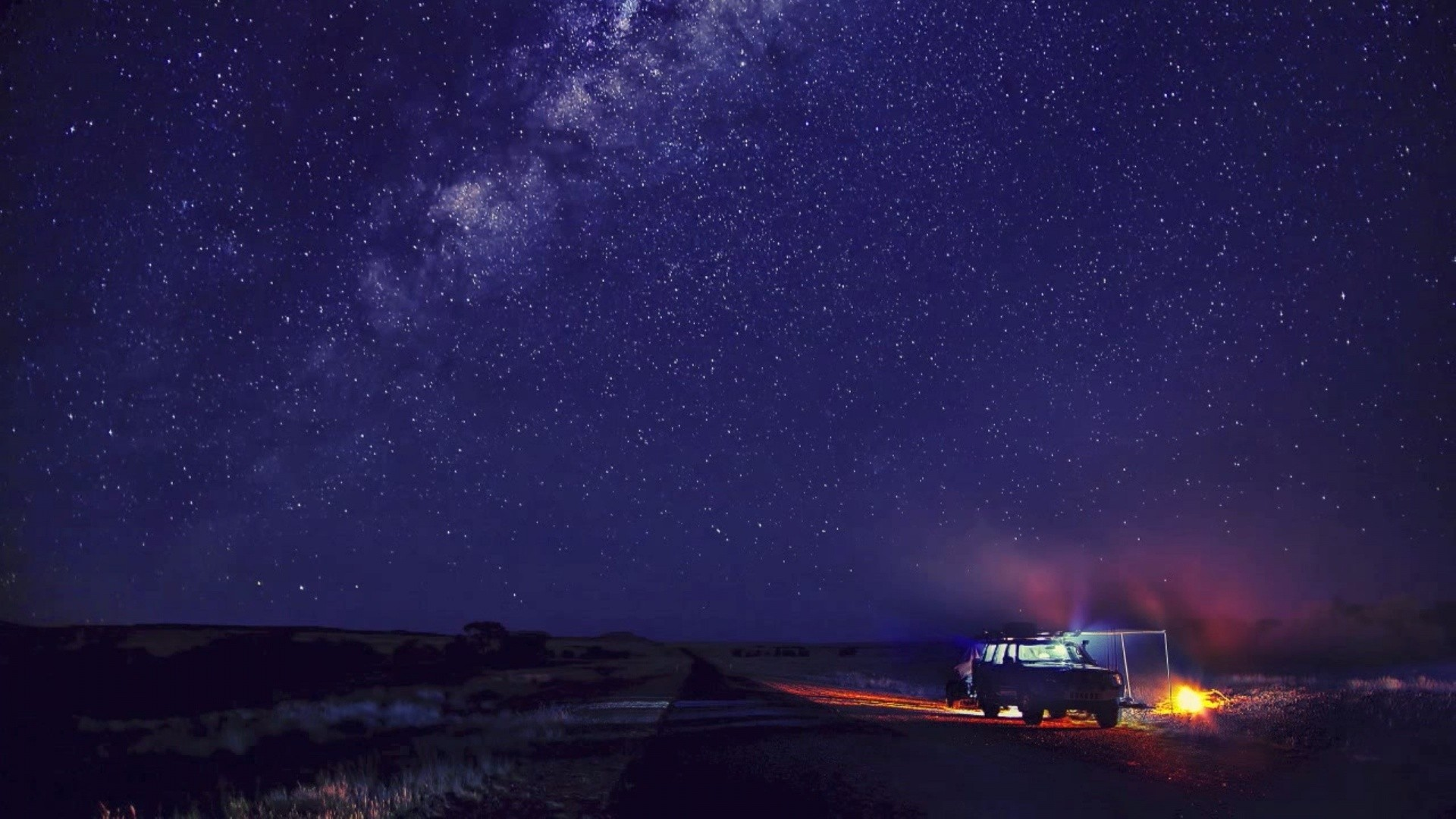 Sky Starry Camp Camping Stars Nature Night Desktop Wallpaper Hd