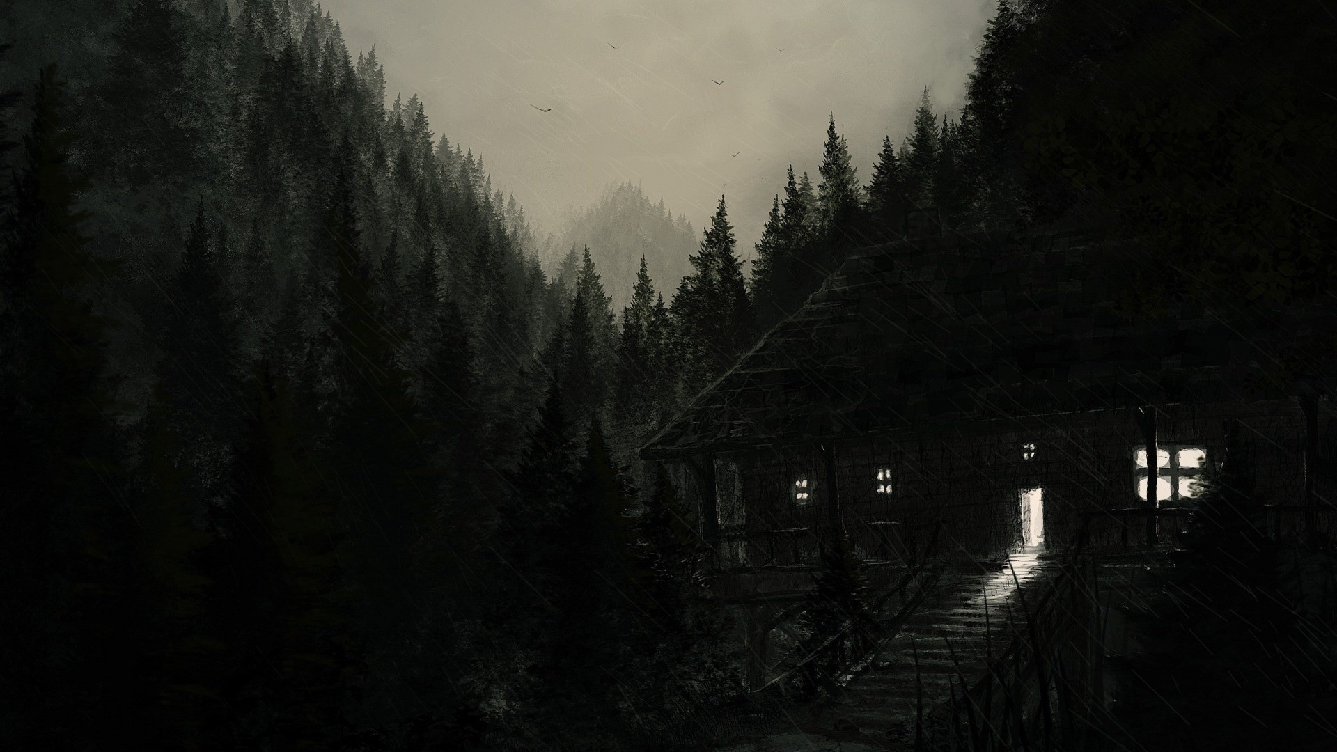 wallpaper forest