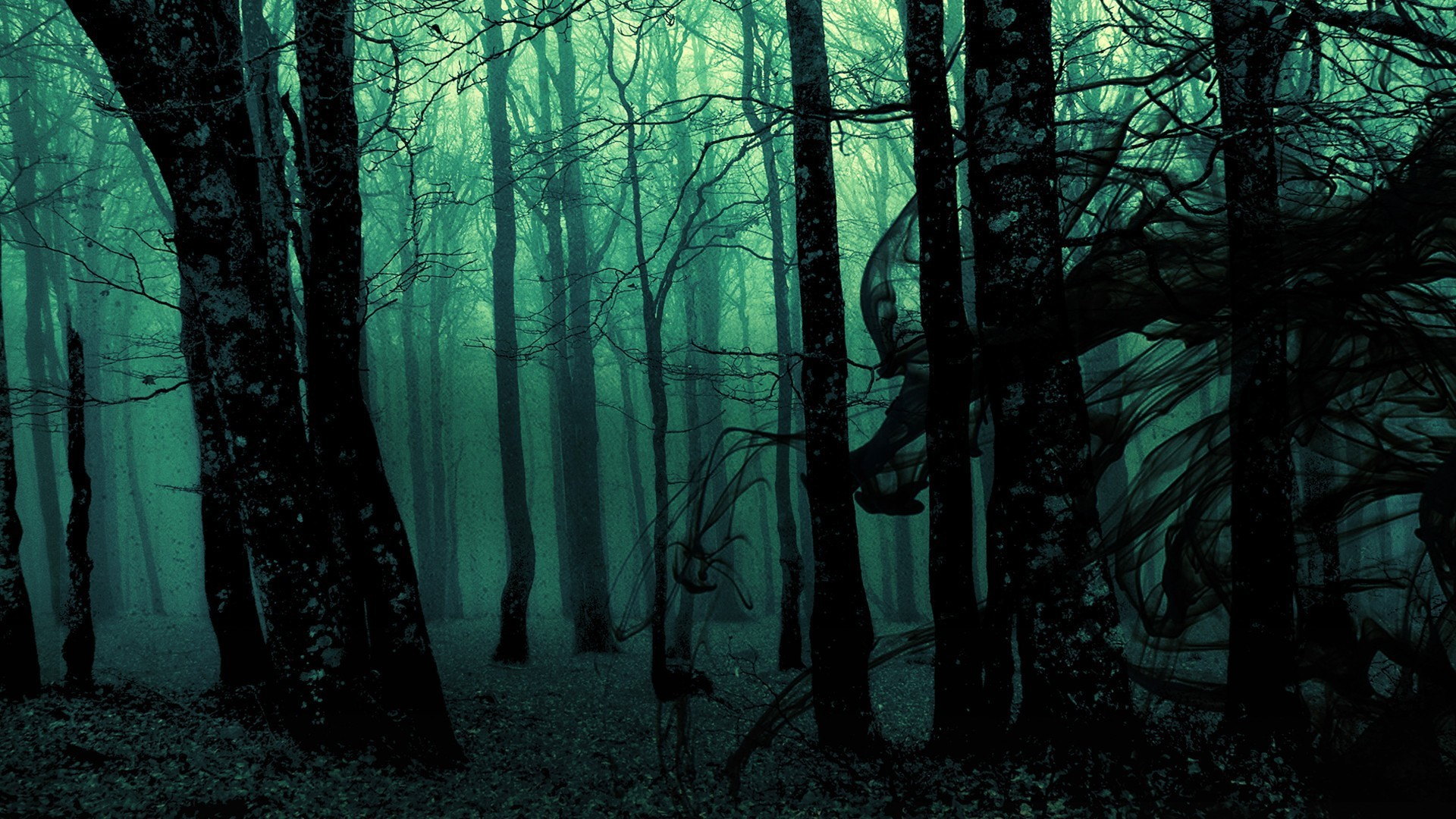 Dark ghost gothic wood trees fantasy evil horror wallpaper | |  118275 | WallpaperUP