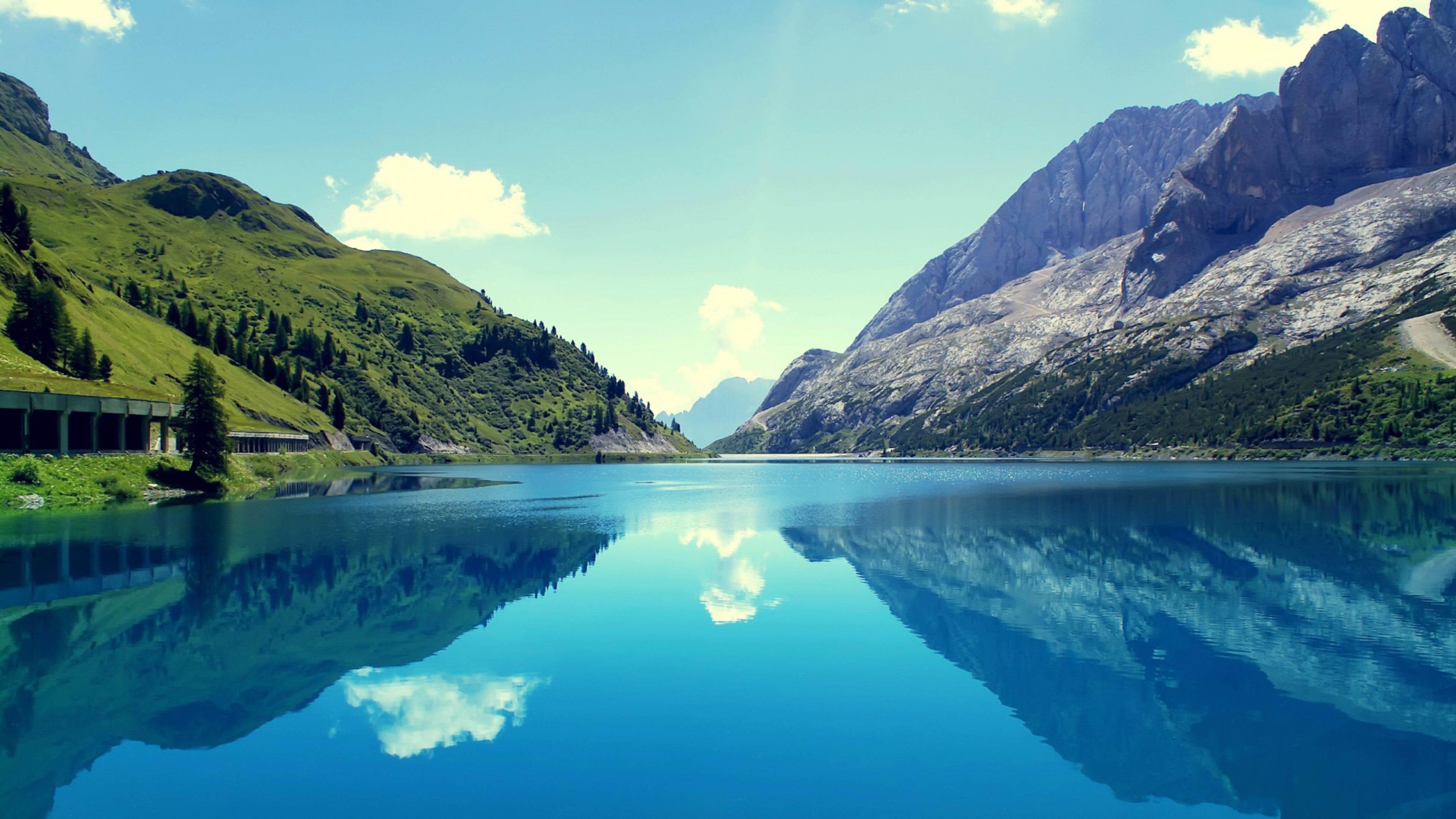 Nature 4K Beautiful Lake Landscape wallpaper