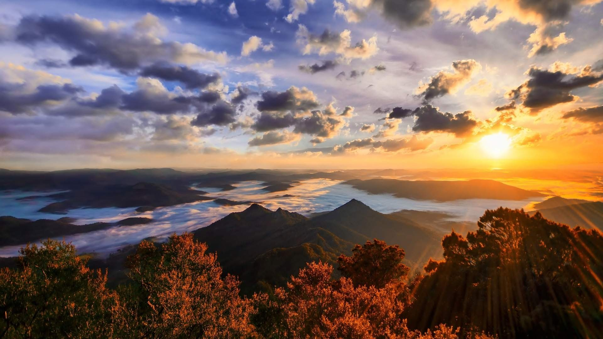 mountain sunset landscape 4k ultra hd wallpaper …