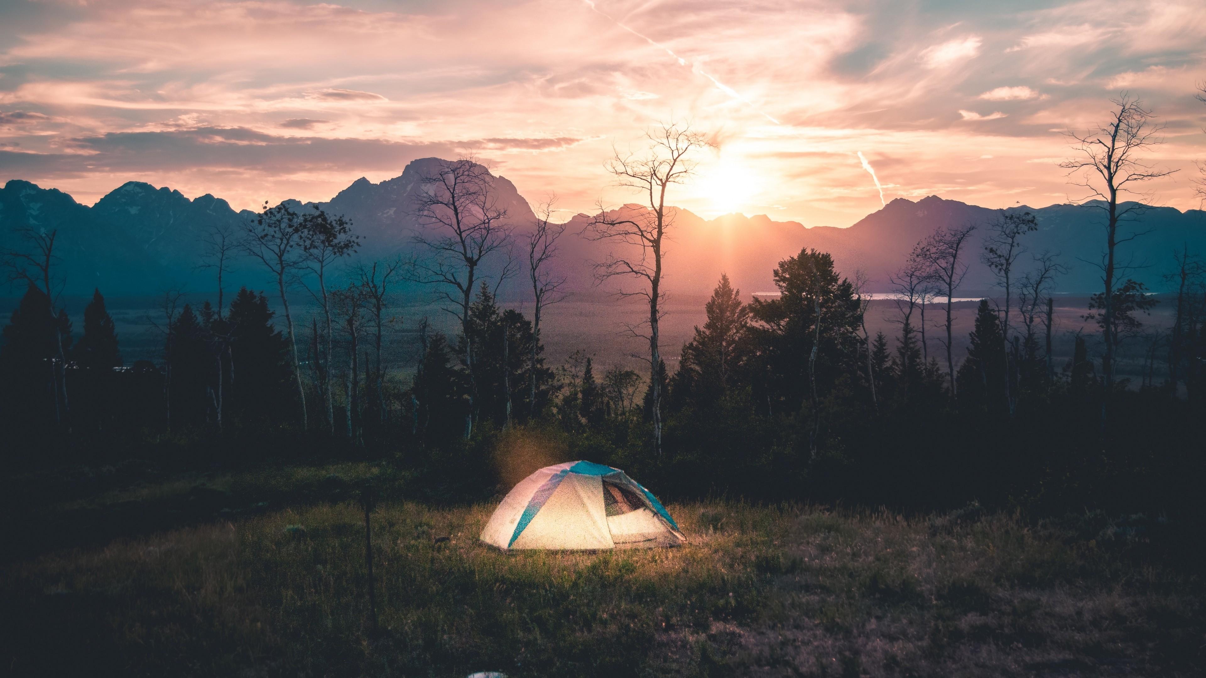 Wallpaper tent, camping, landscape