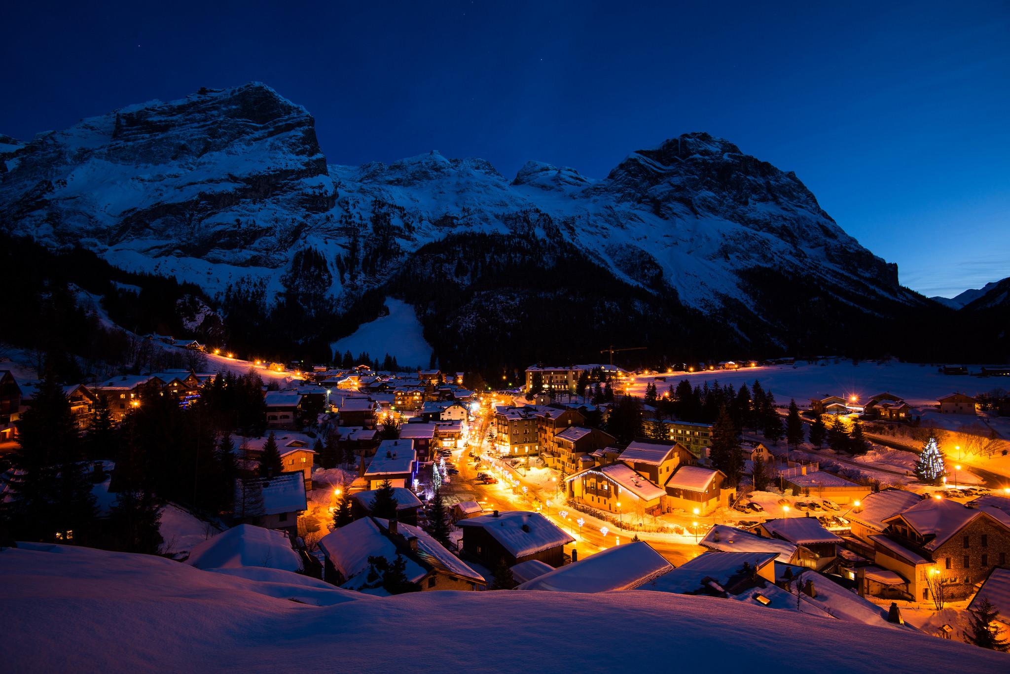 Winter Night Desktop Background