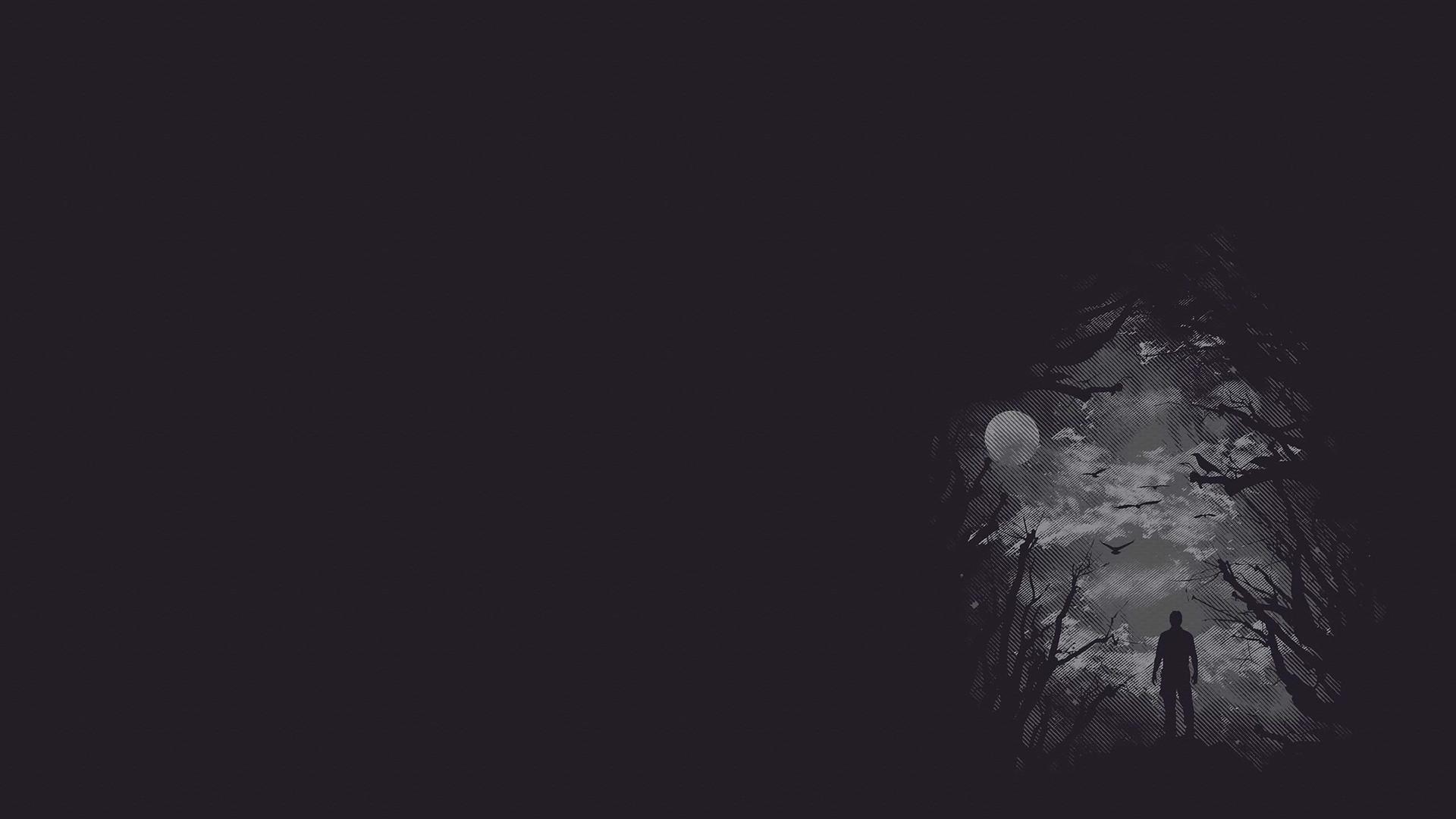 Dark Vector Men Males Trees Forest Creepy Wallpaper At Dark Wallpapers