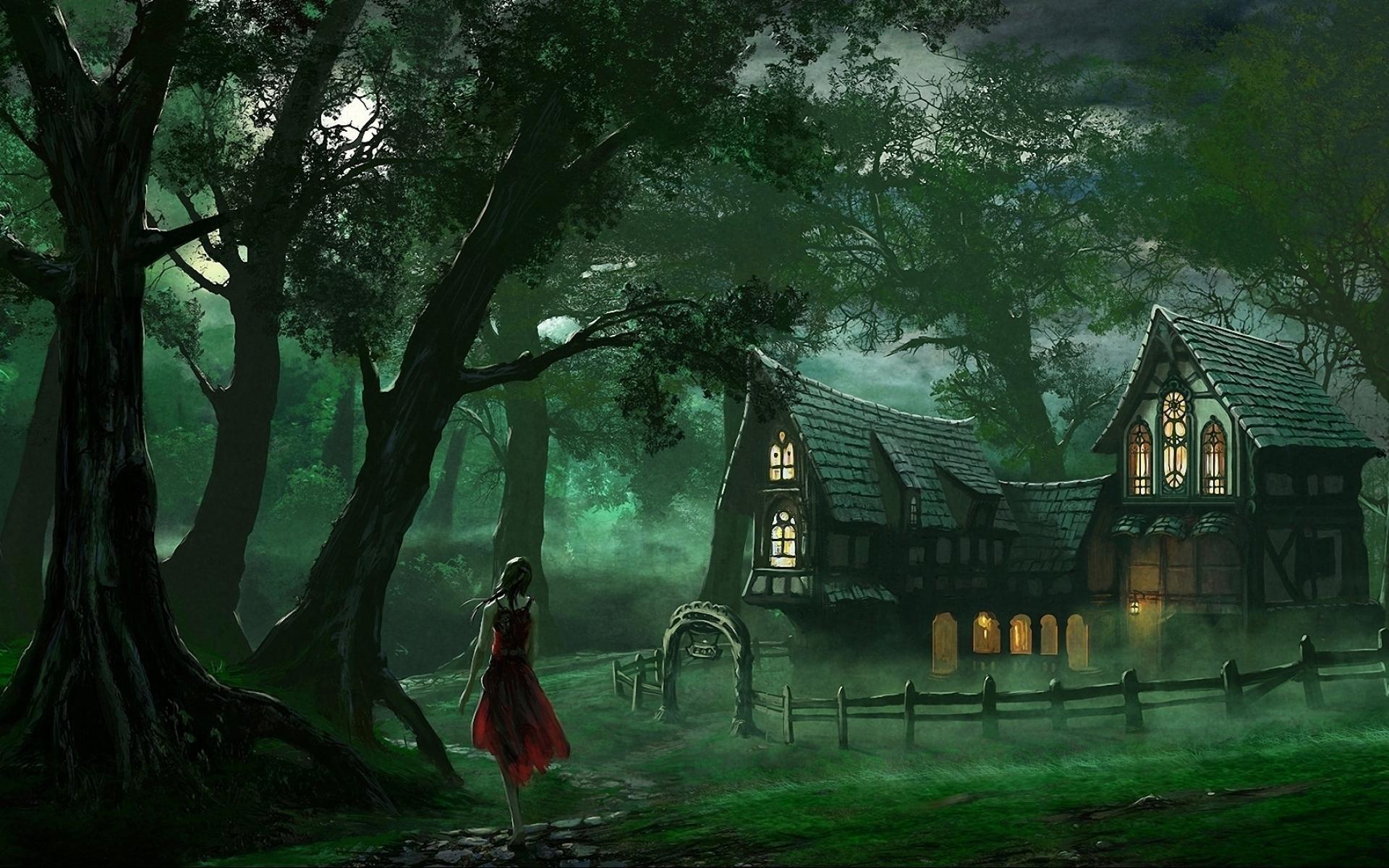 Fairy Tale Night Wallpaper