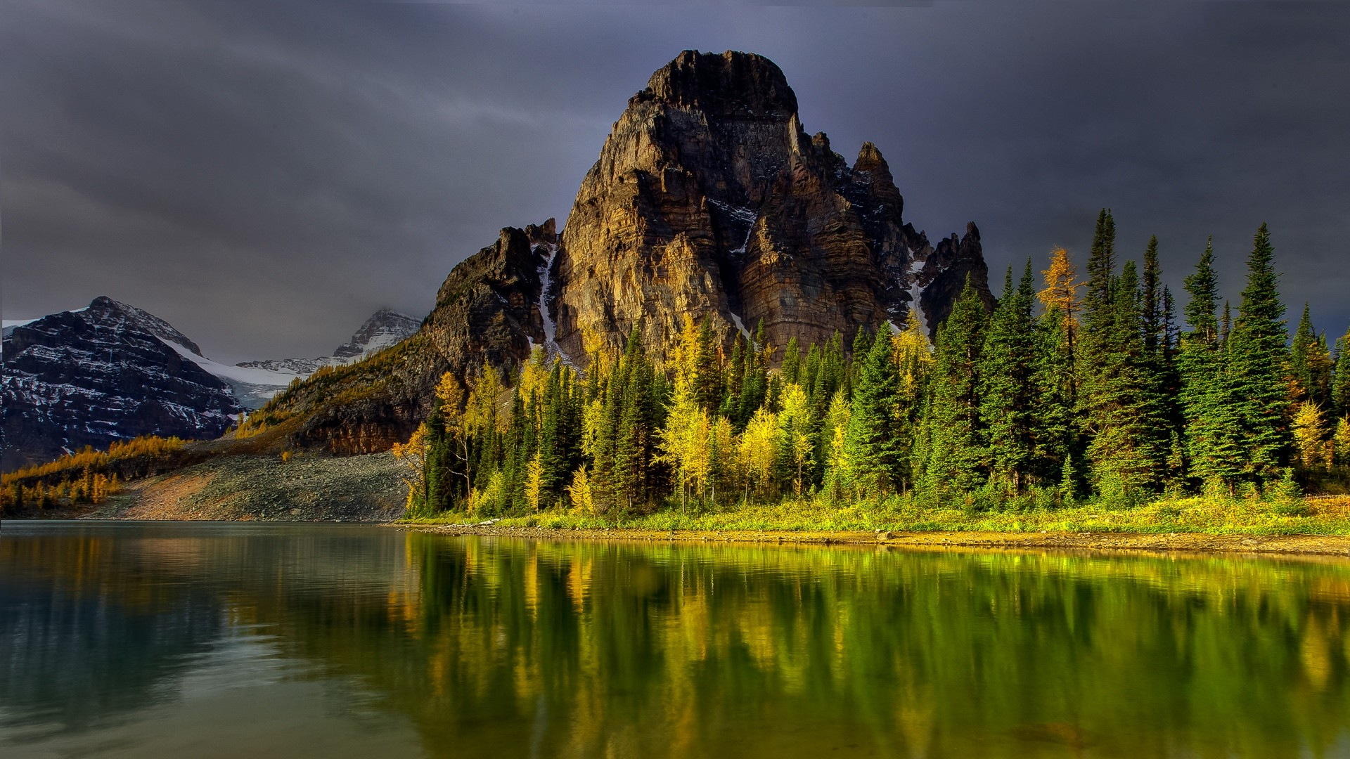 Preview wallpaper mountains, sky, nature, lake 1920×1080