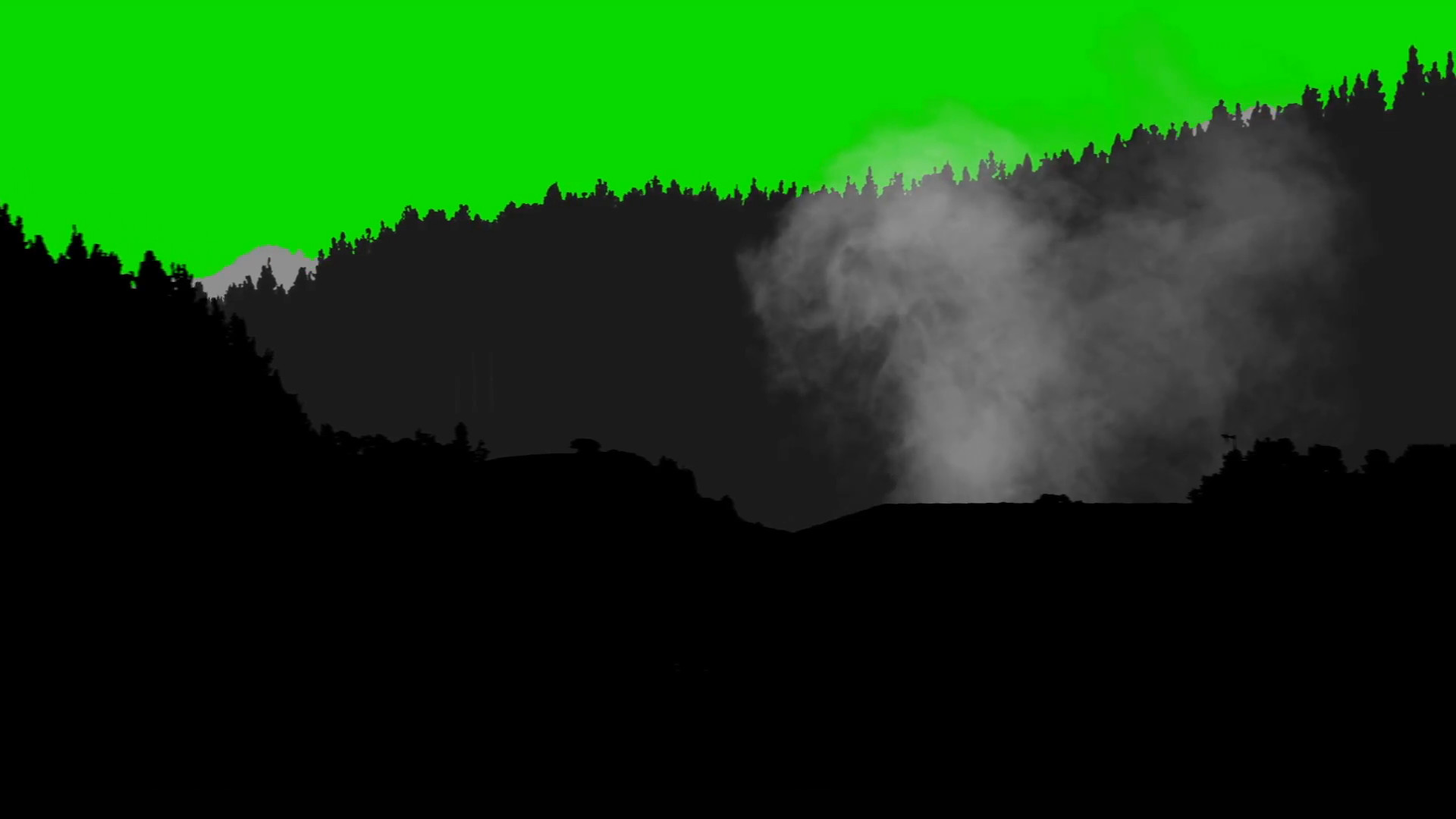 Silhouette Of Forest Hills Cats and Smoke on a Green Screen Background  Motion Background – VideoBlocks