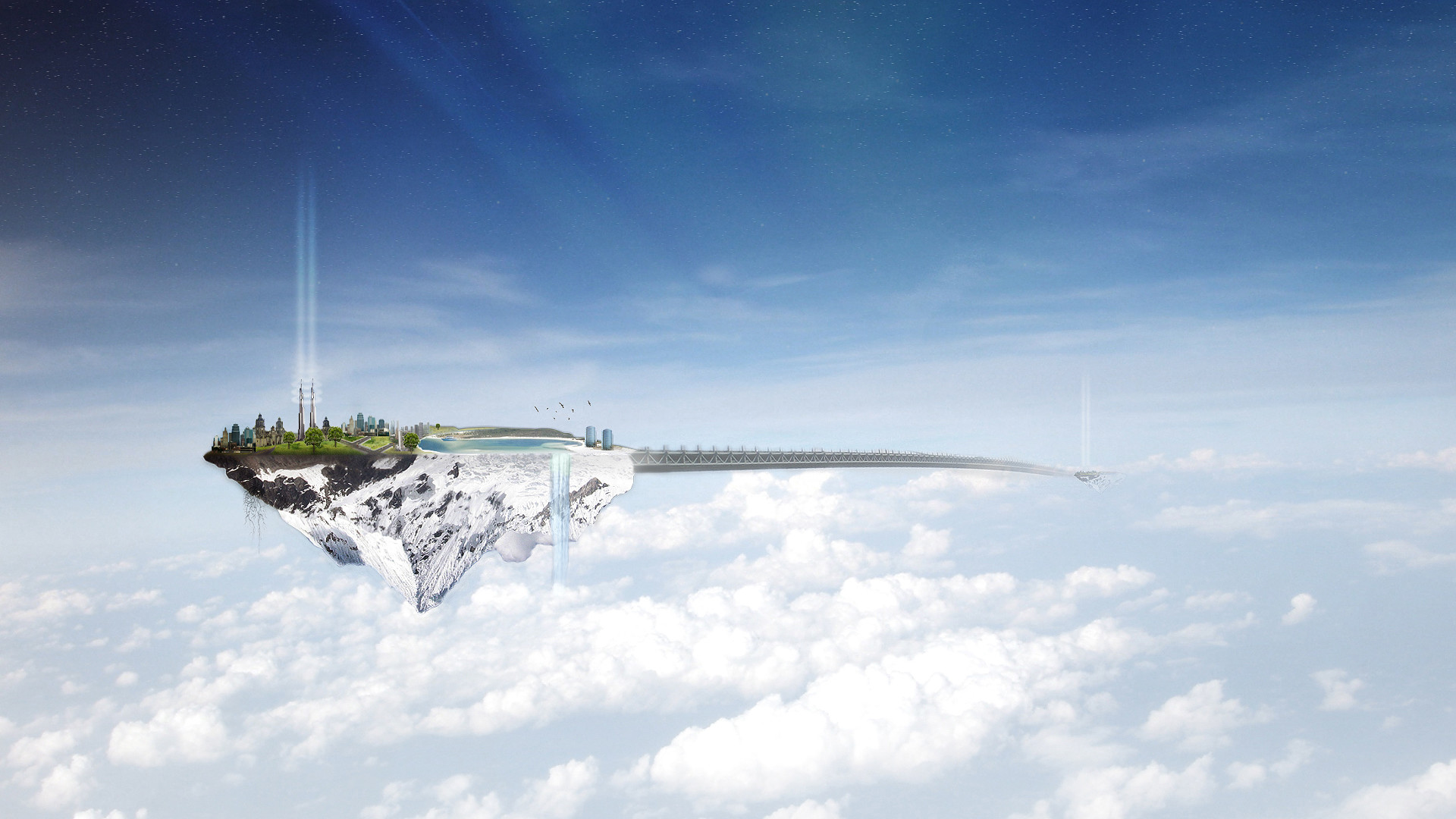 Floating Island – Wallpaper Others .