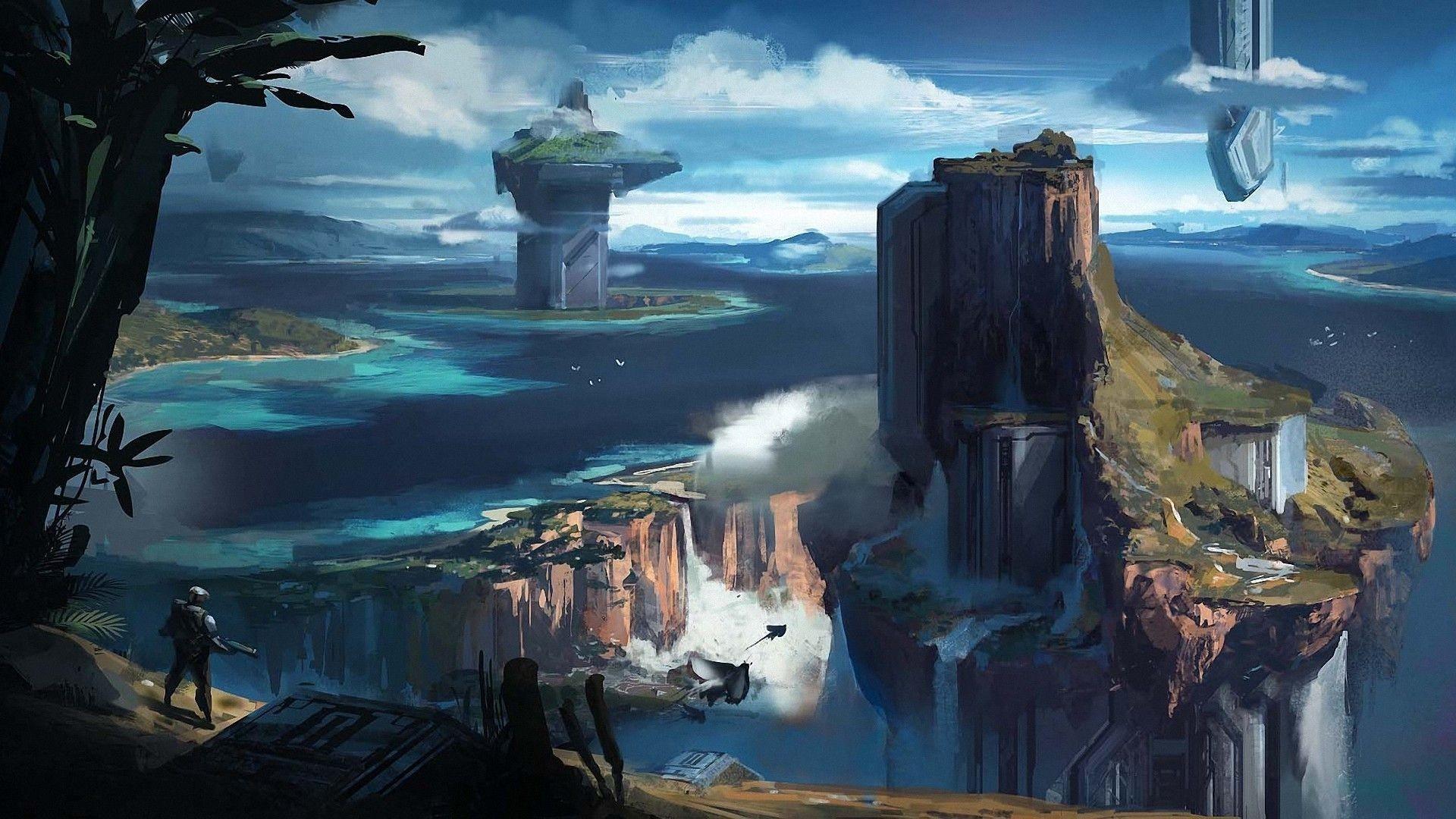 HD Sci Fi Fantasy Island Computer Wallpaper – HiReWallpapers 8009