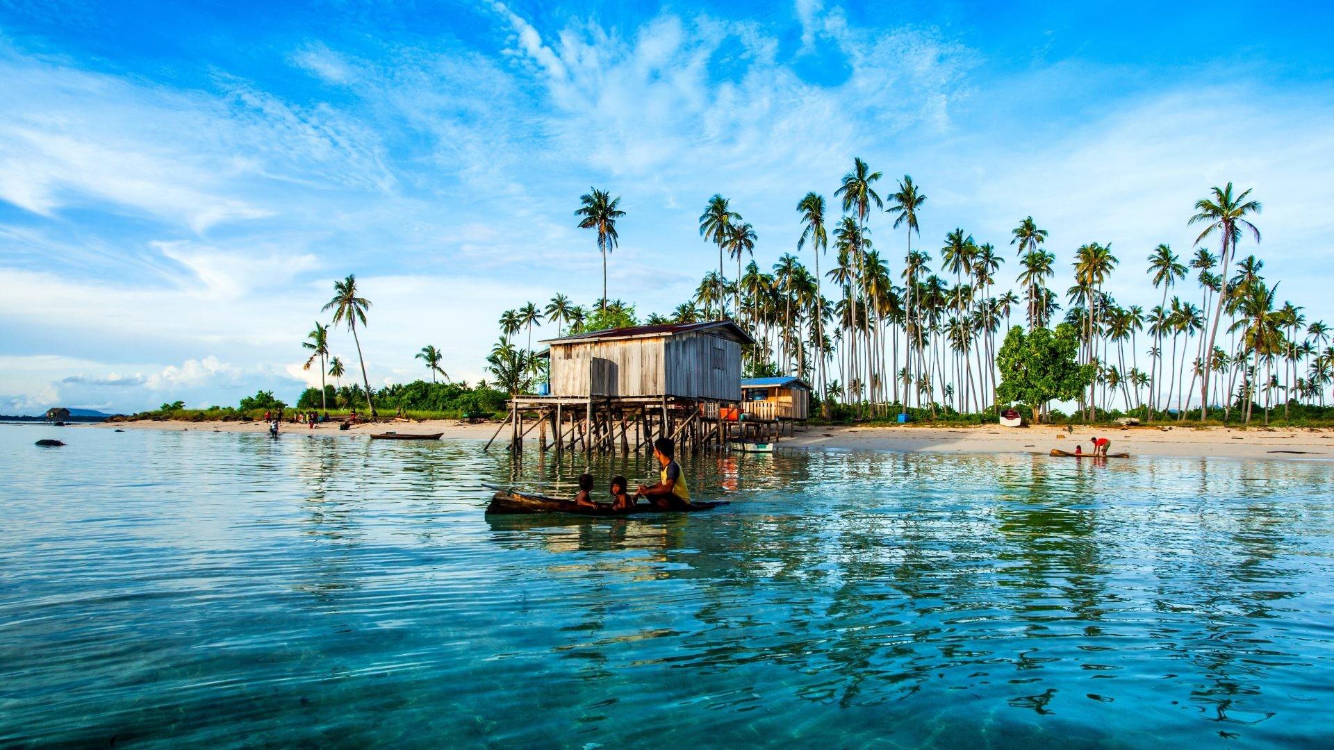 Beaches – Tropics Palma Maiga Malaysia Coast Nature Island Background  Pictures for HD 16:9