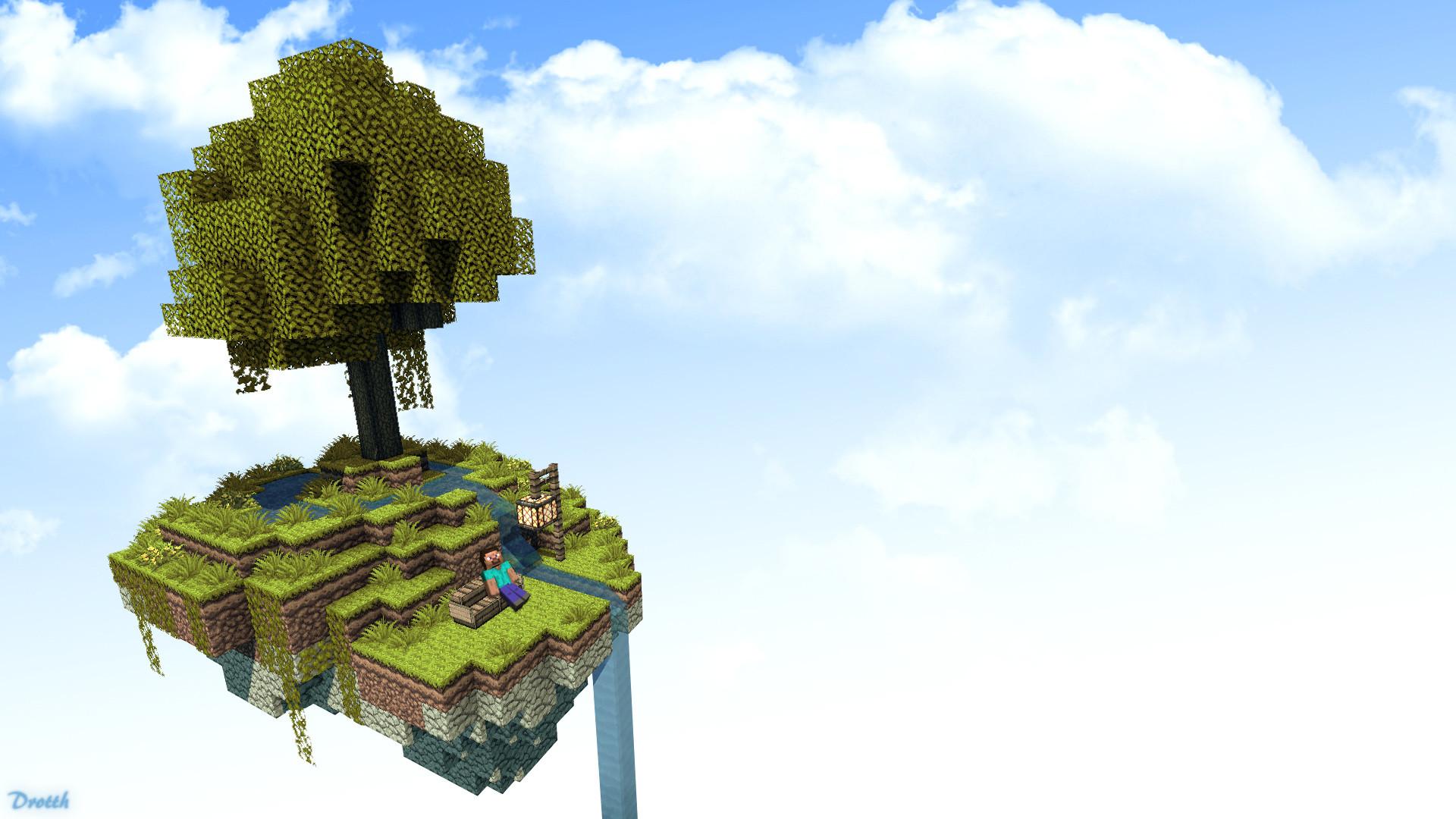 Beautiful floating island, a bit like Chronotrigger.
