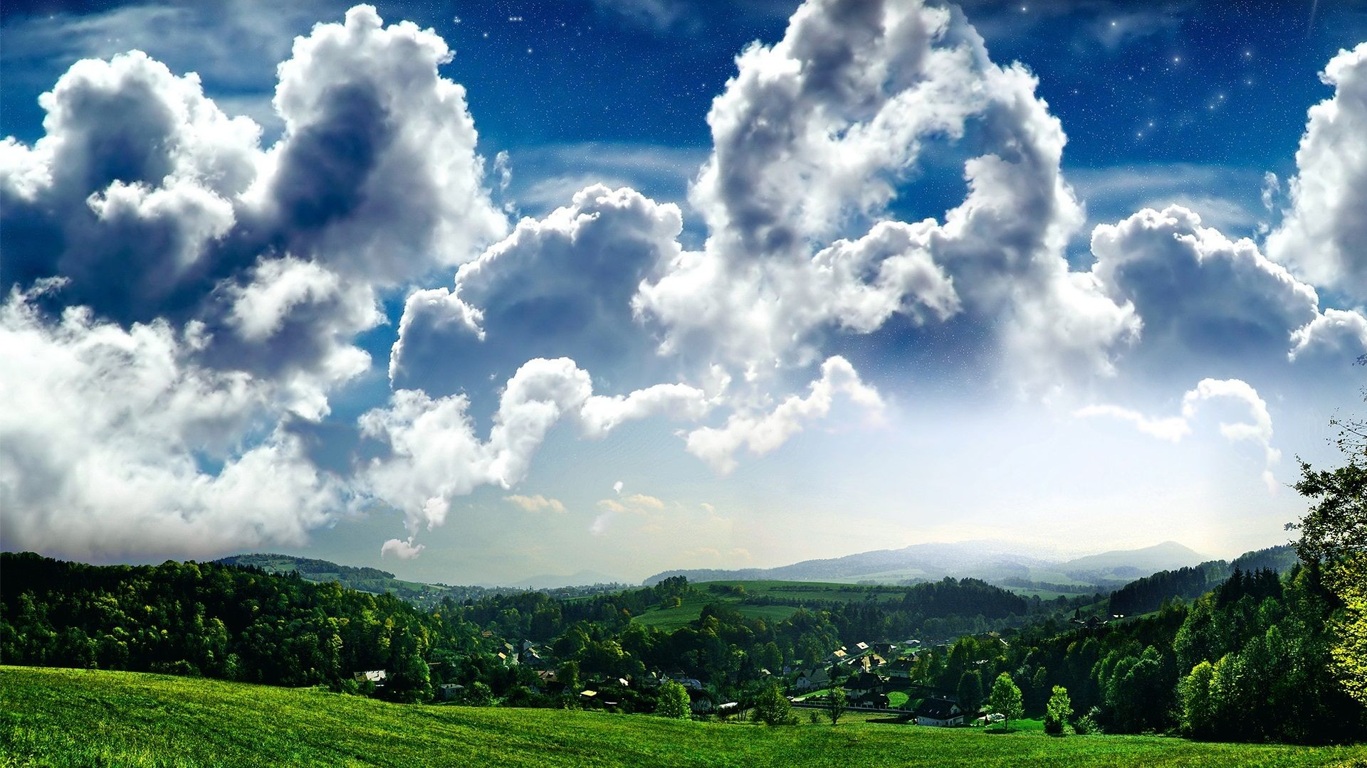 Clear Blue Sky With Cloudy As A Background Wallpaper, Pastel Sky .