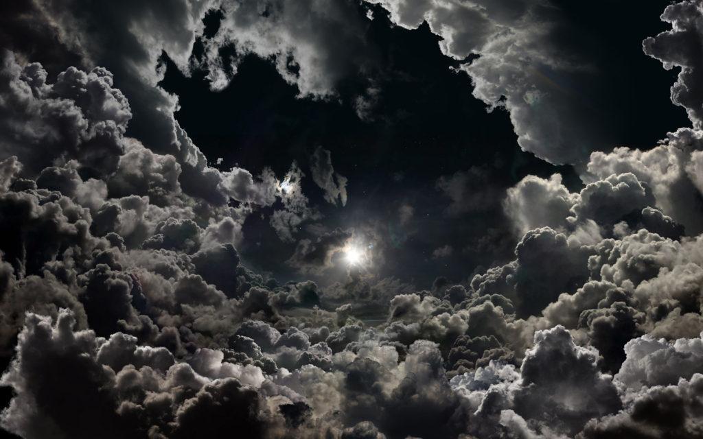 Moonlight moon night nature landscape clouds stars sky g wallpaper .