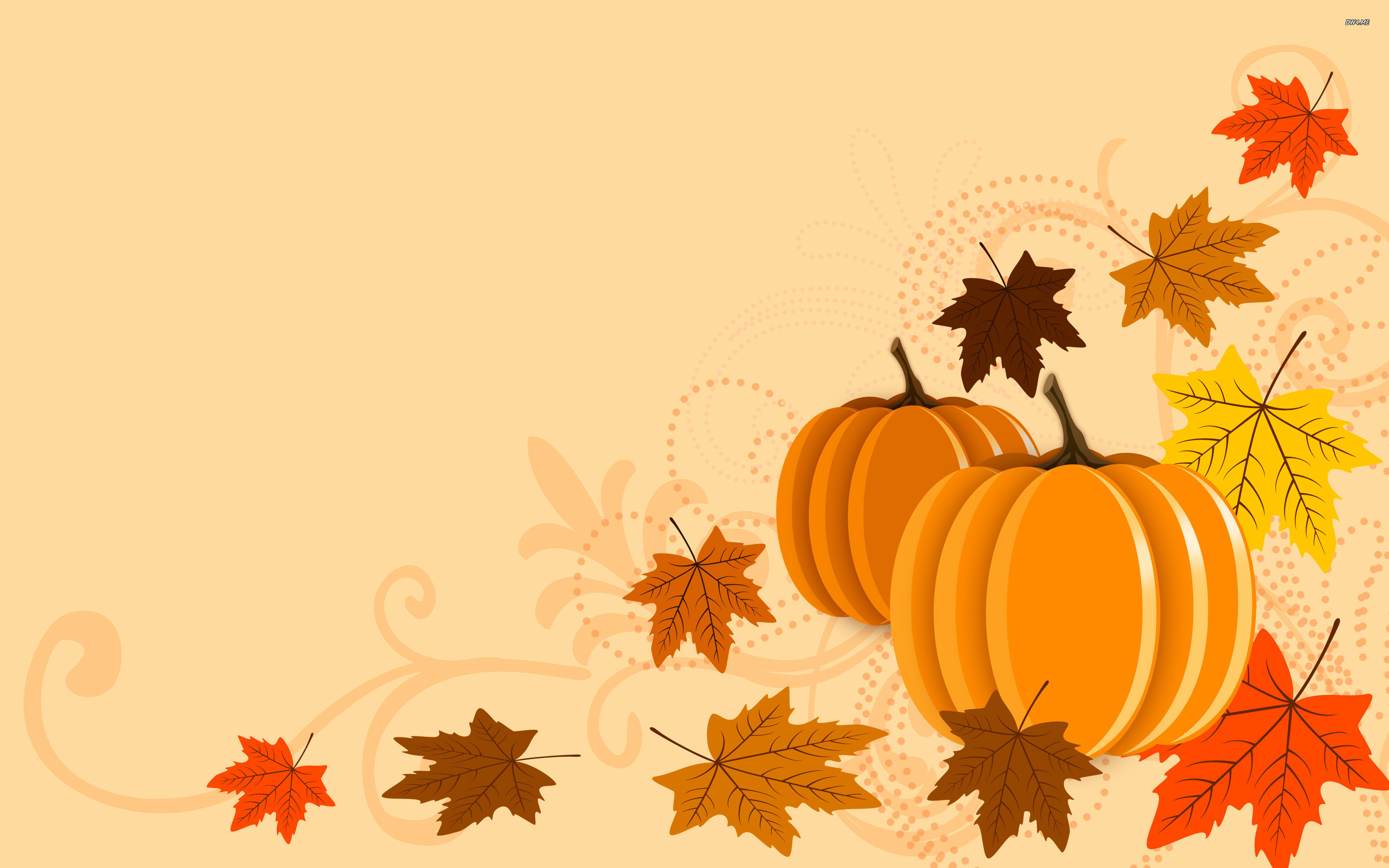 Pumpkins and leaves wallpaper – 1009263