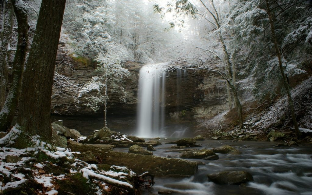 Wallpapers Canada Quebec Nature Stream Winter Forests 1920×1200