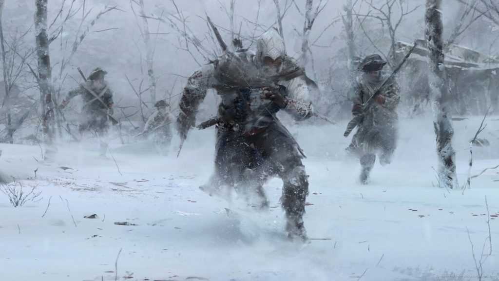 Assassins Creed 3 Winter Forest Run for 1920×1080
